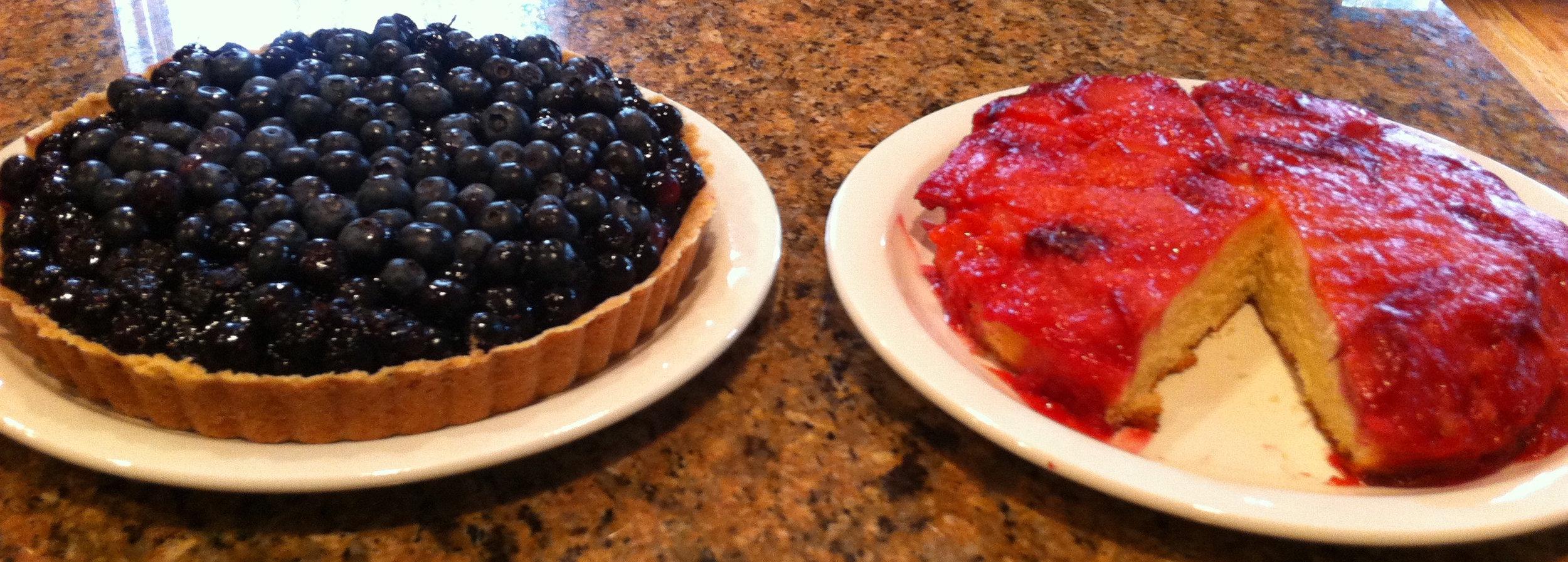 Blueberry Tart/Plum Cake