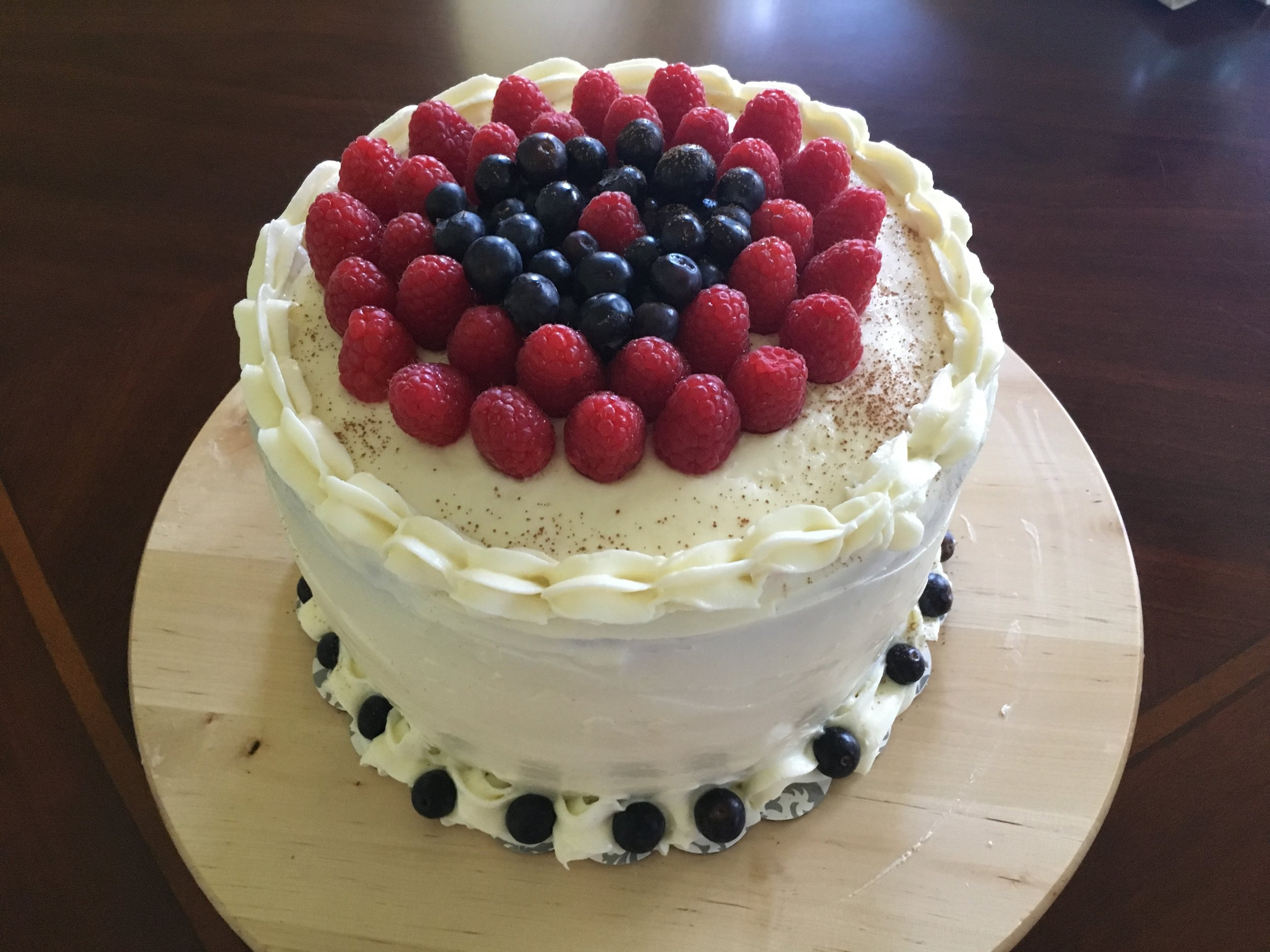 Red Velvet & Fresh Berries Cake
