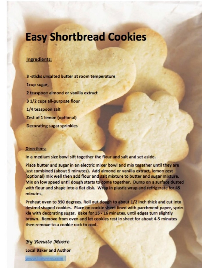 "Food - It's the time of year for festive baking and cooking. Even with my busy schedule I take ""time off"" to bake traditional holiday cookies for my family. Here is my easy and simple sugar cookie recipe that you can make and enjoy baking with your family."