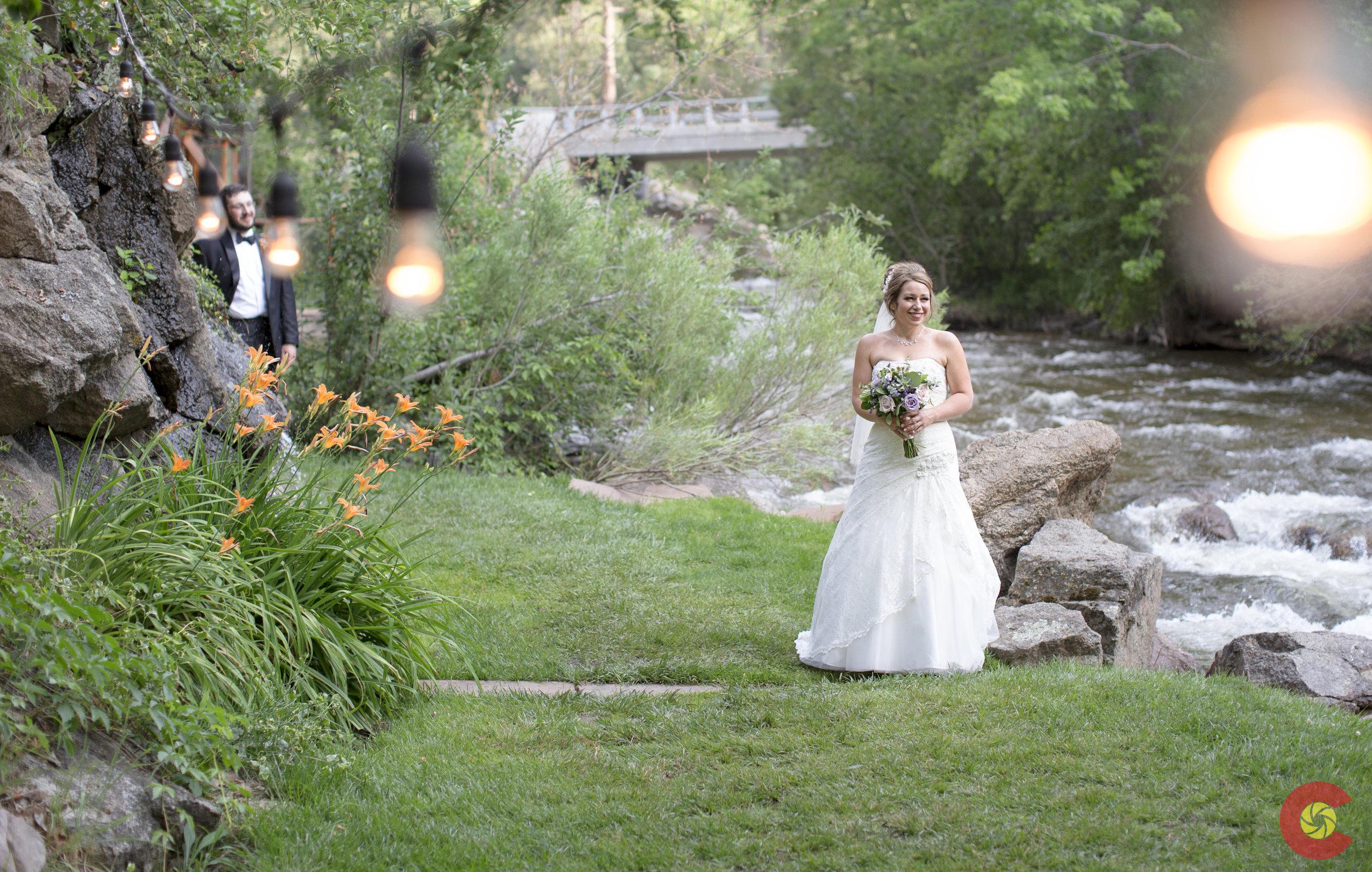 Bride through the lights.jpg