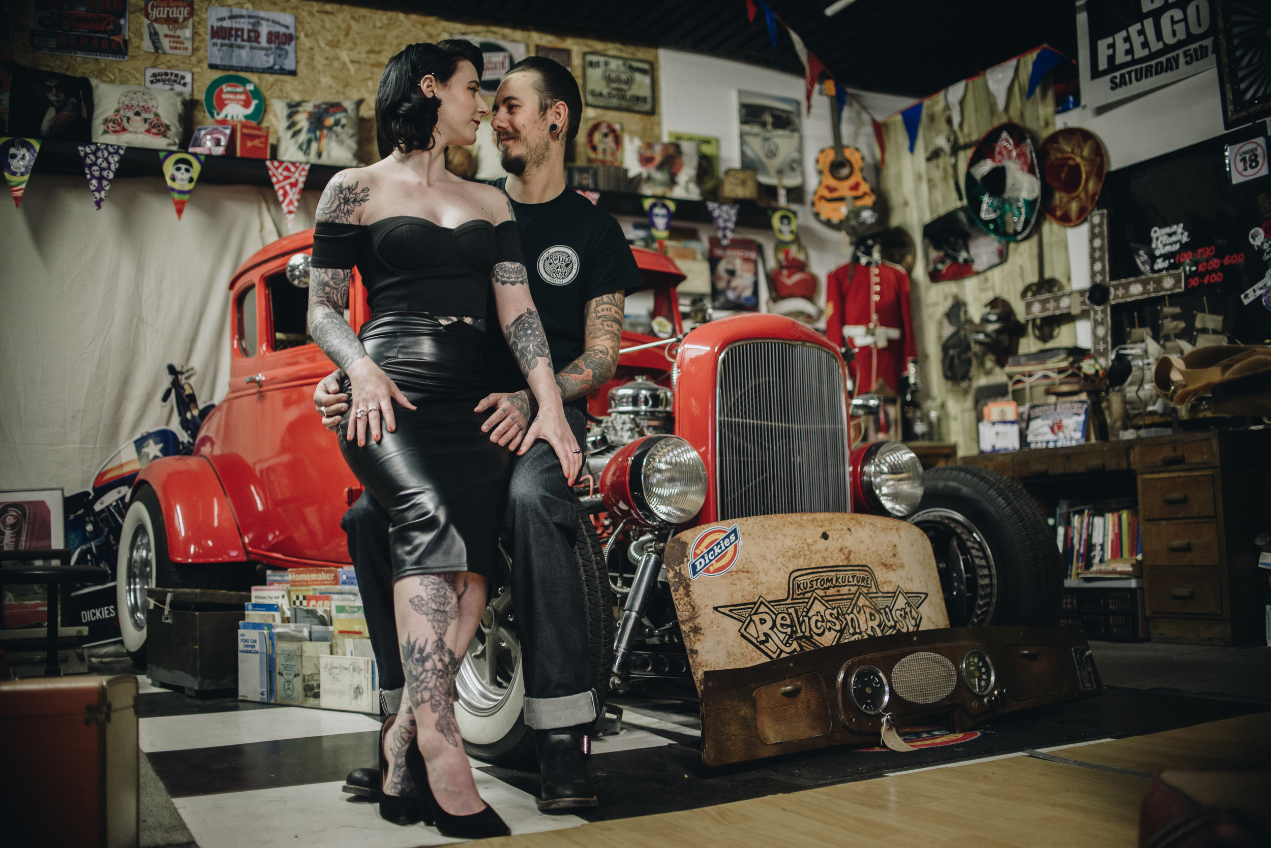 Alternative Manchester Engagement and Couples Photography | Rockabilly Retro Barbershop Engagement | The Pin-Up Bride 6