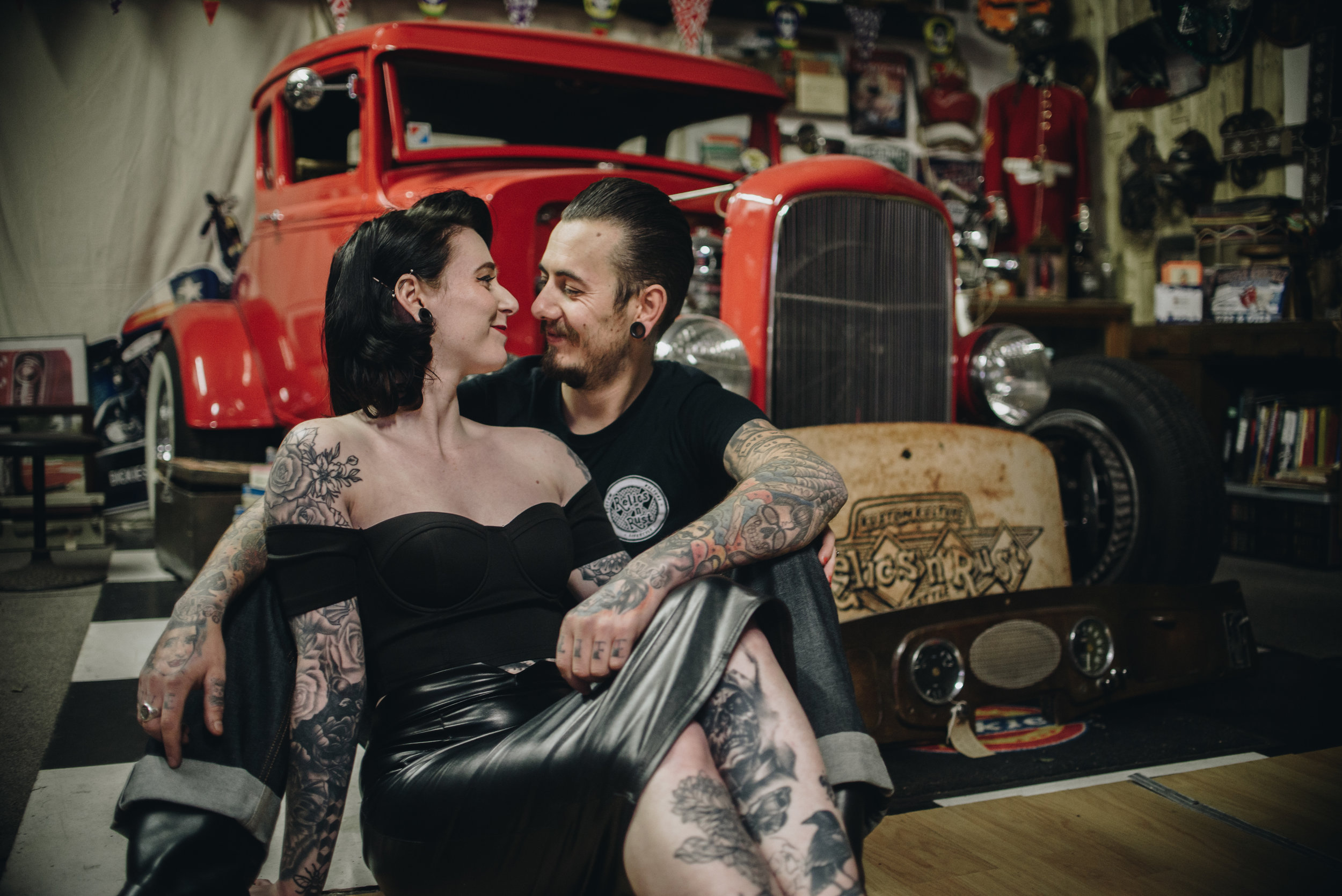 Alternative Manchester Engagement and Couples Photography | Rockabilly Retro Barbershop Engagement | The Pin-Up Bride 8