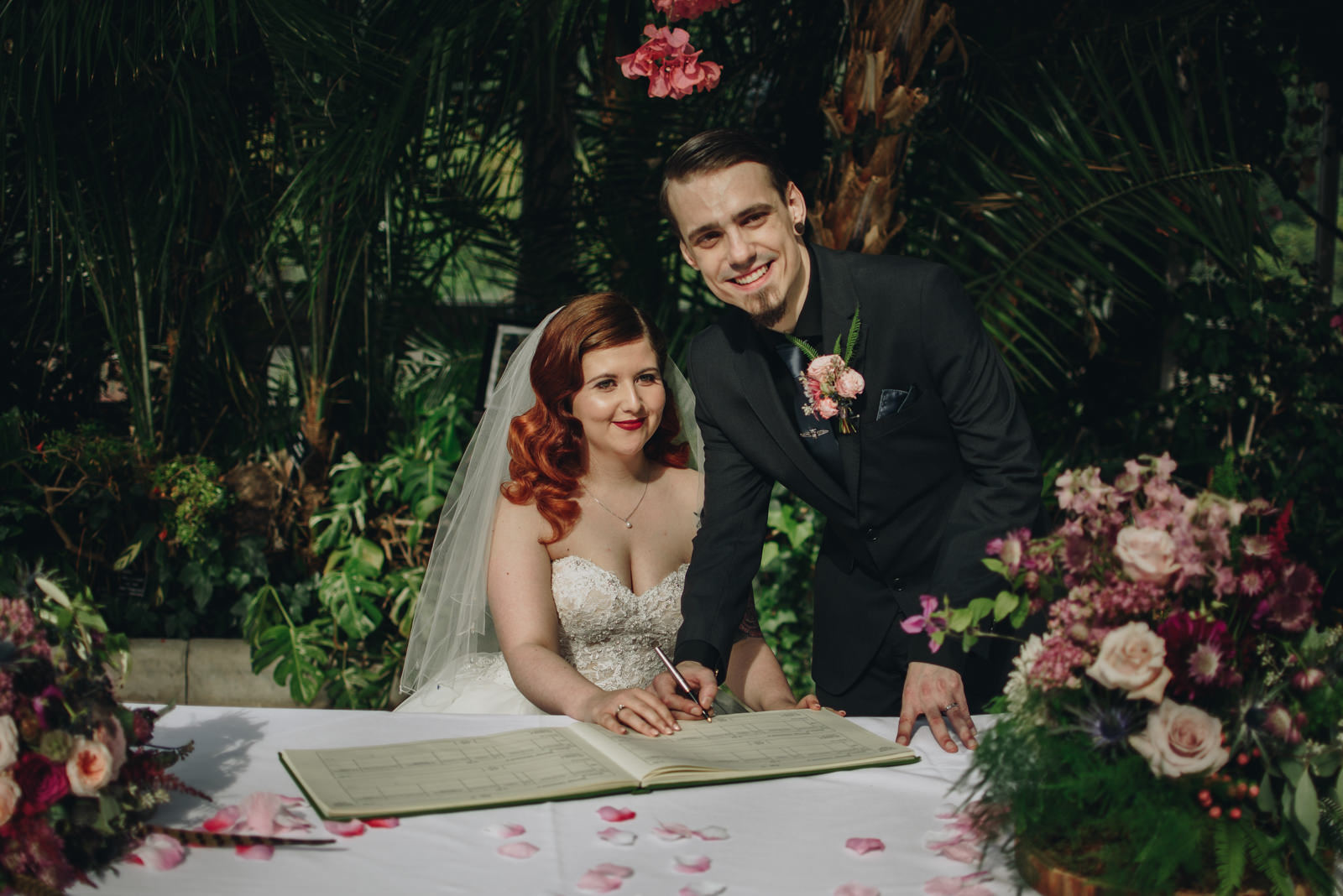 Twin Peaks Inspired Sefton Park Palm House Wedding | The Pin-Up Bride