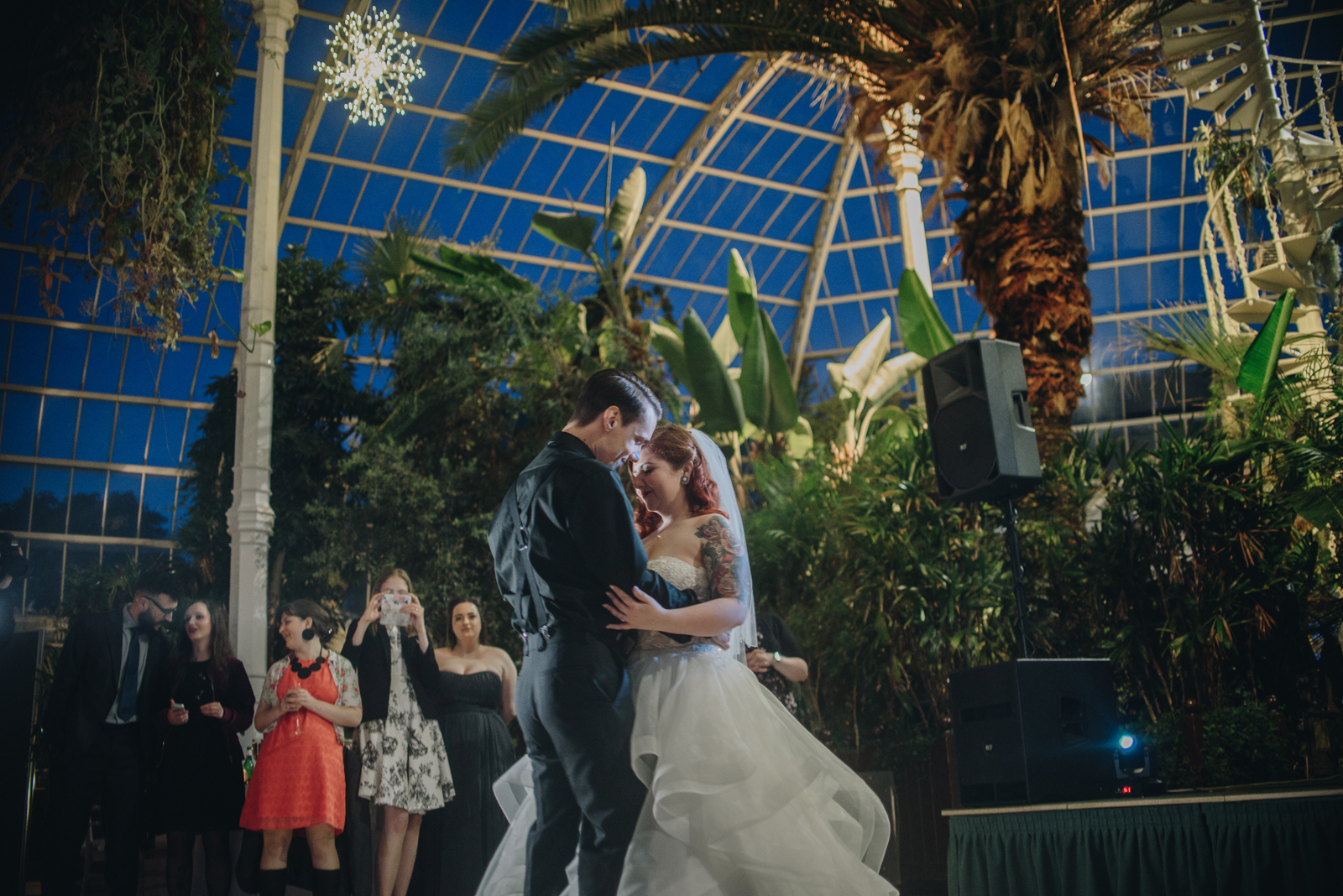 Twin Peaks Inspired Sefton Park Palm House Wedding Photography | The Pin-Up Bride