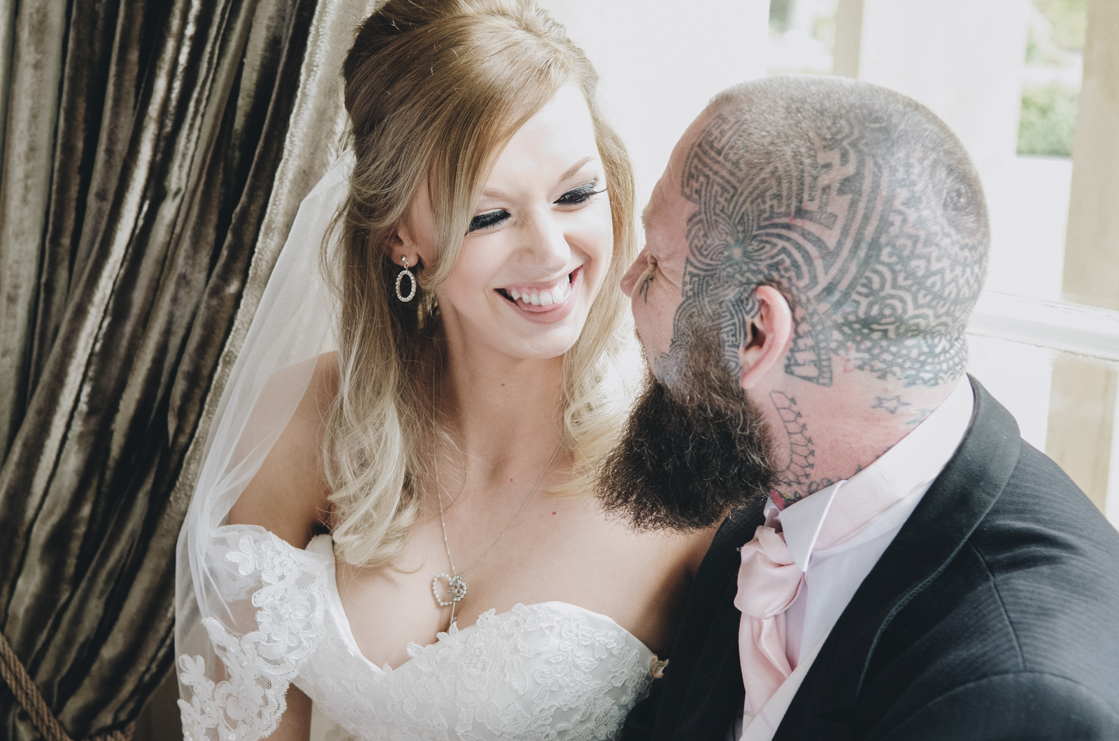 Alternative-North-West-Manchester-Wedding-Photography-Astley-bank-Wedding-skull-cake-tattooed-groom-14.jpg
