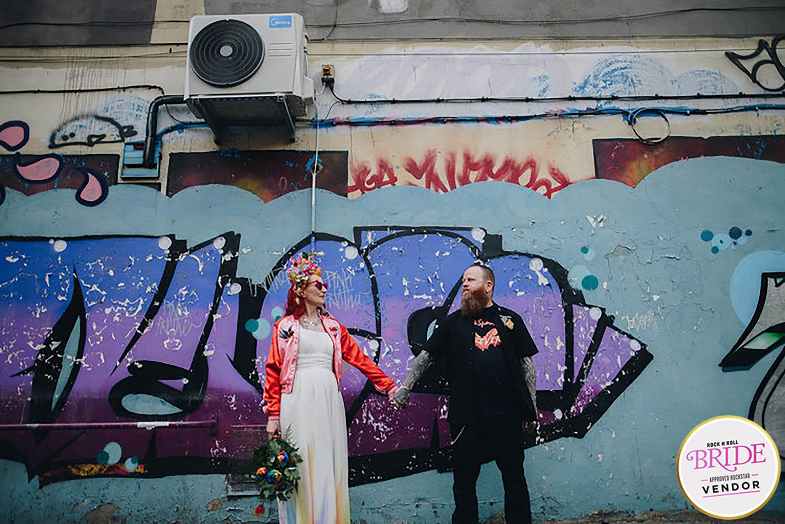 Manchester Rainbow Punk Wedding