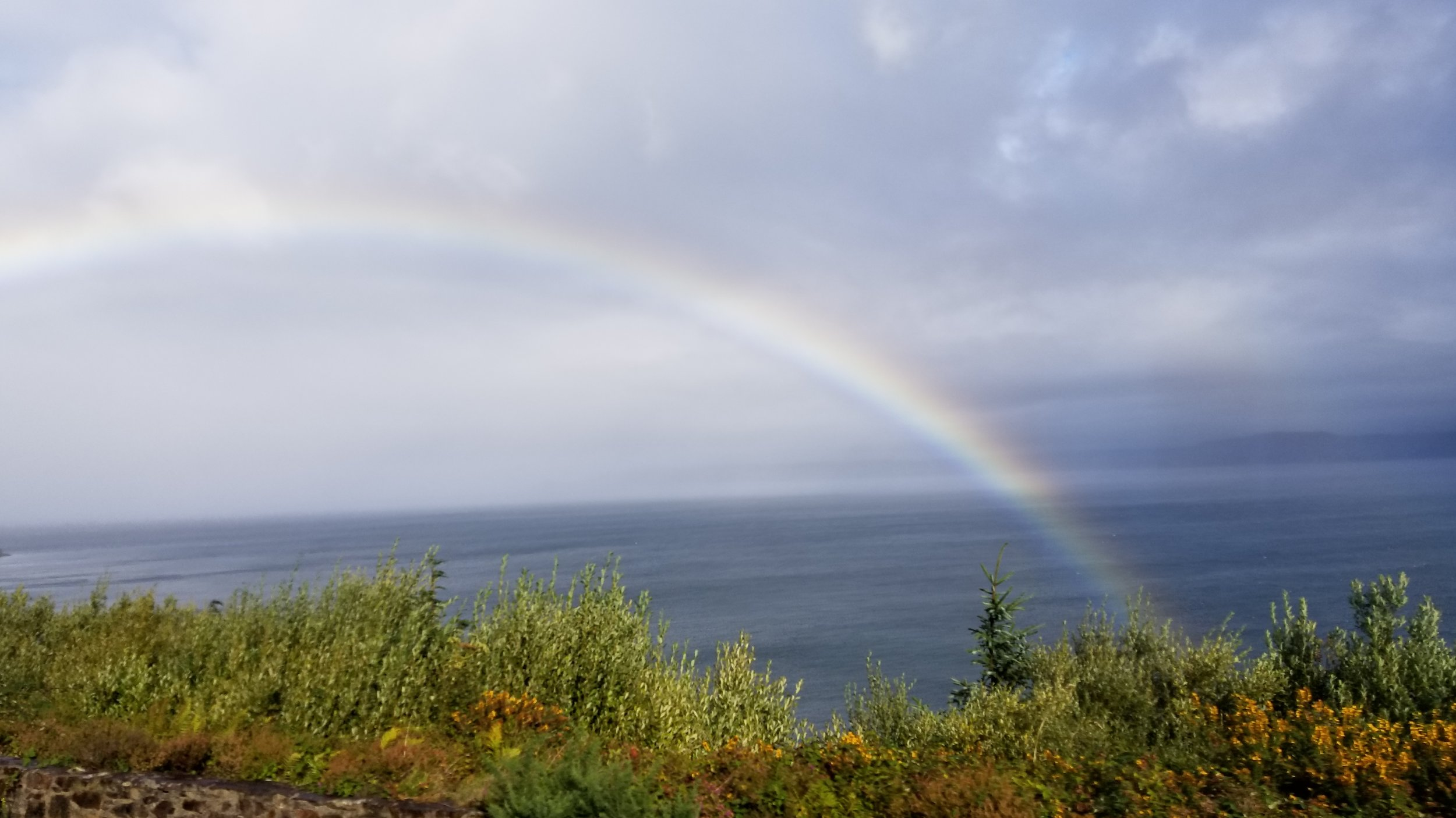 Rainbow along the coast of Ireland, 2018, Karmal Spaeth
