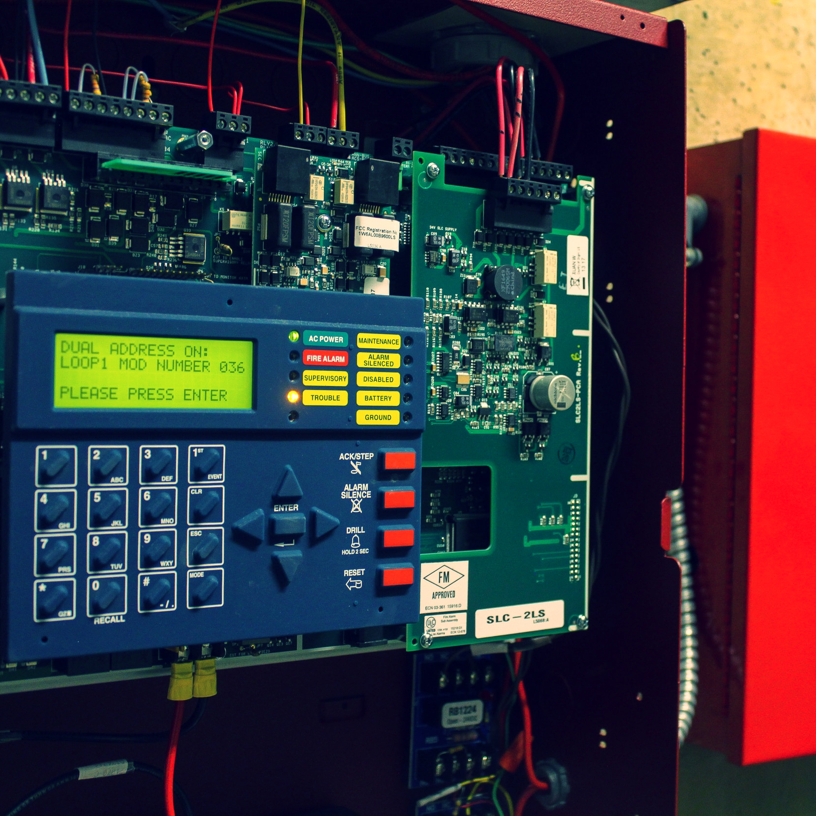 Fire alarm panel repair