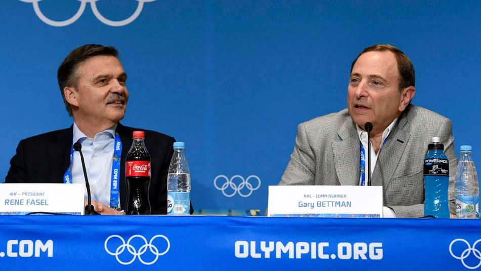 IIHF President Rene Fasel (left) and NHL Comissioner Gary Bettman (right). Photo courtesy of wdtn.com