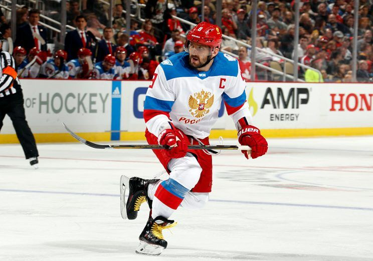 Russian Captain Ovechkin in international competition. Photo courtesy of Yahoo Sports