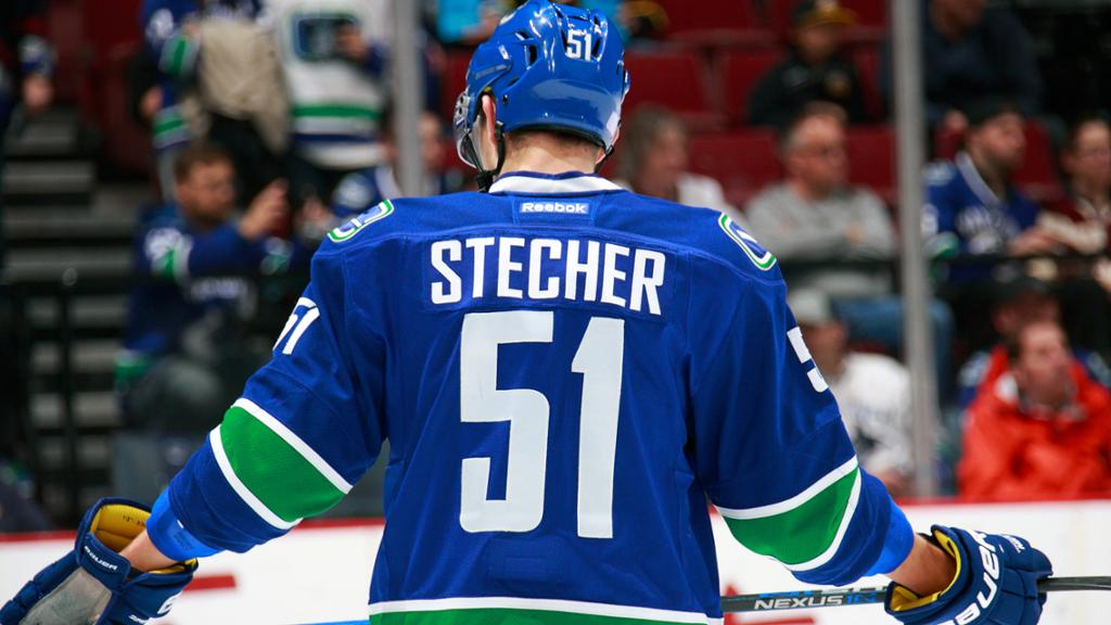 Will Stetcher thrive in a top-4 D-spot with the Canucks in 2018-2019? Photo courtesy of sportingnews.com