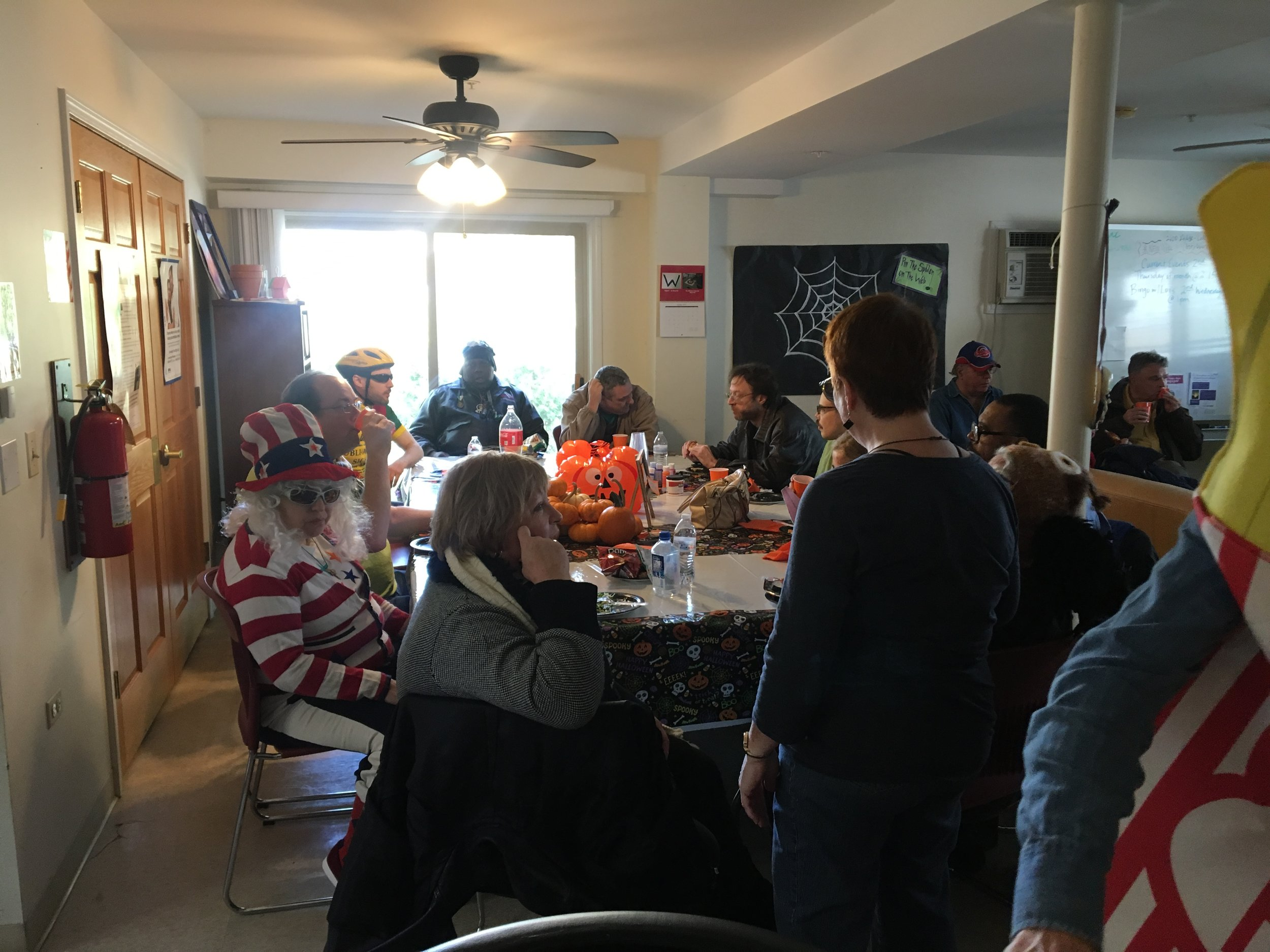 Party attendees enjoy the annual Halloween Party!