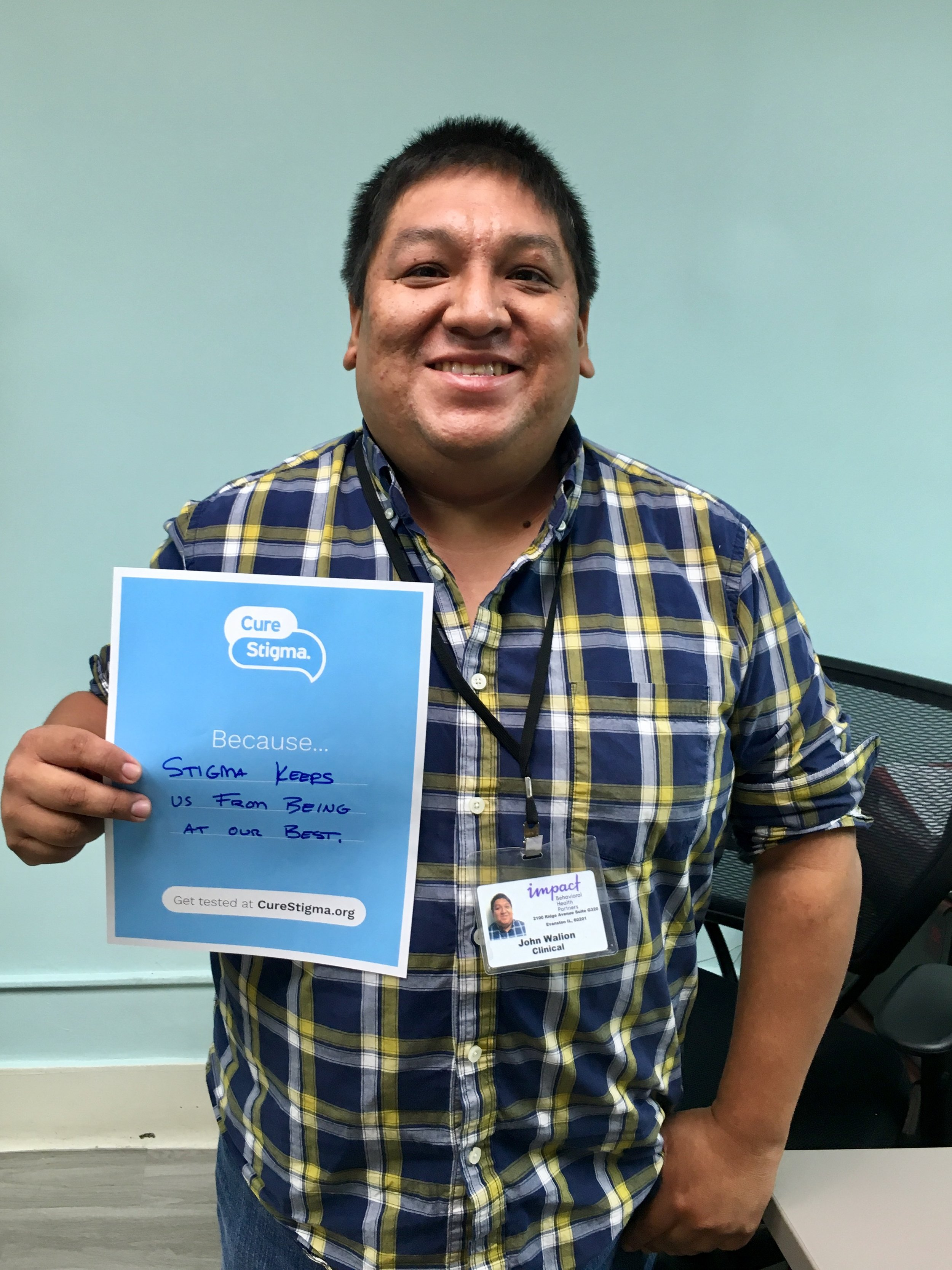 """""""Stigma keeps us from being at our best."""" - John, Impact Clinician"""