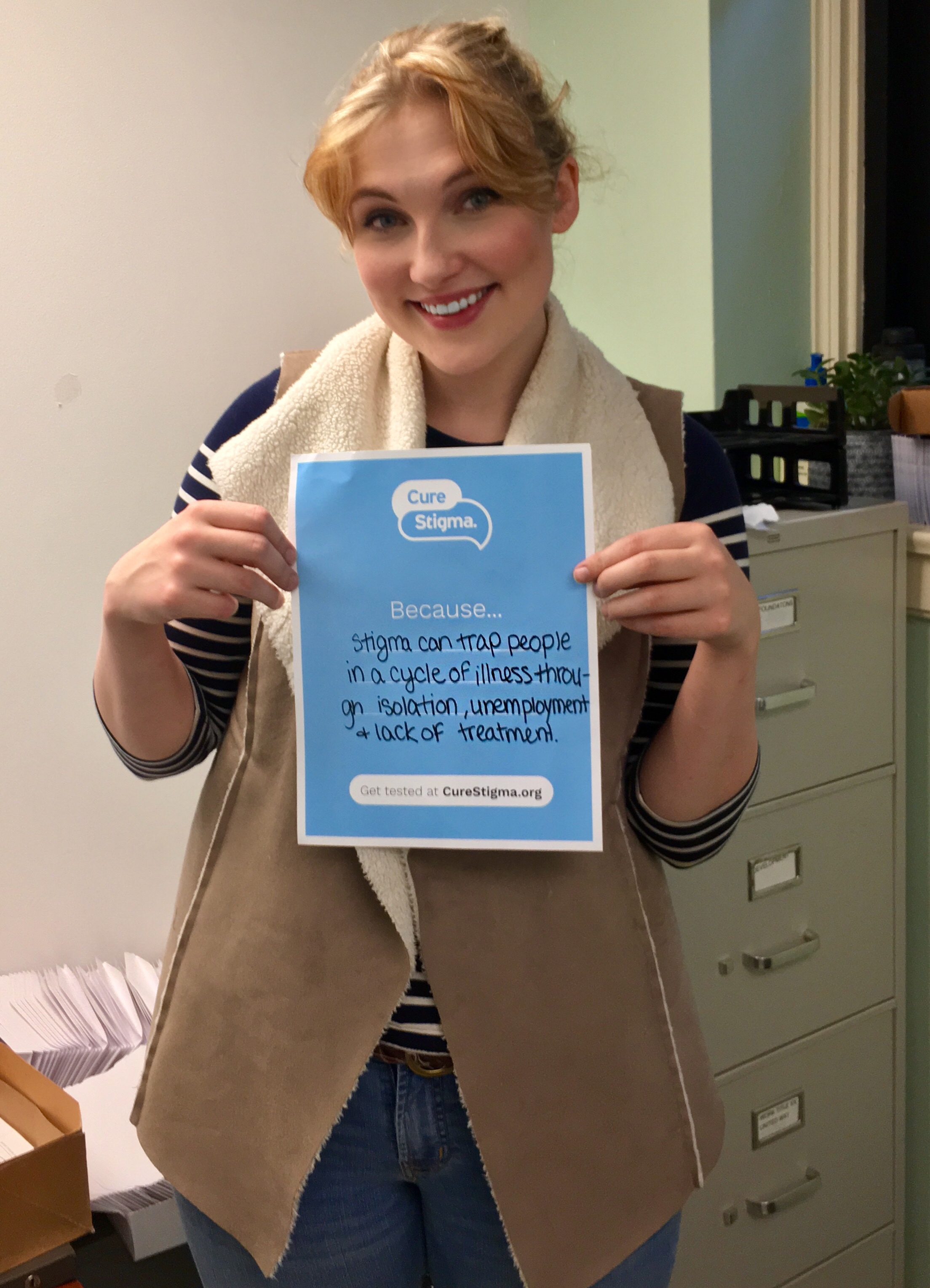 """""""Stigma can trap people in a cycle of illness through isolation, unemployment and lack of treatment."""" -Emily"""
