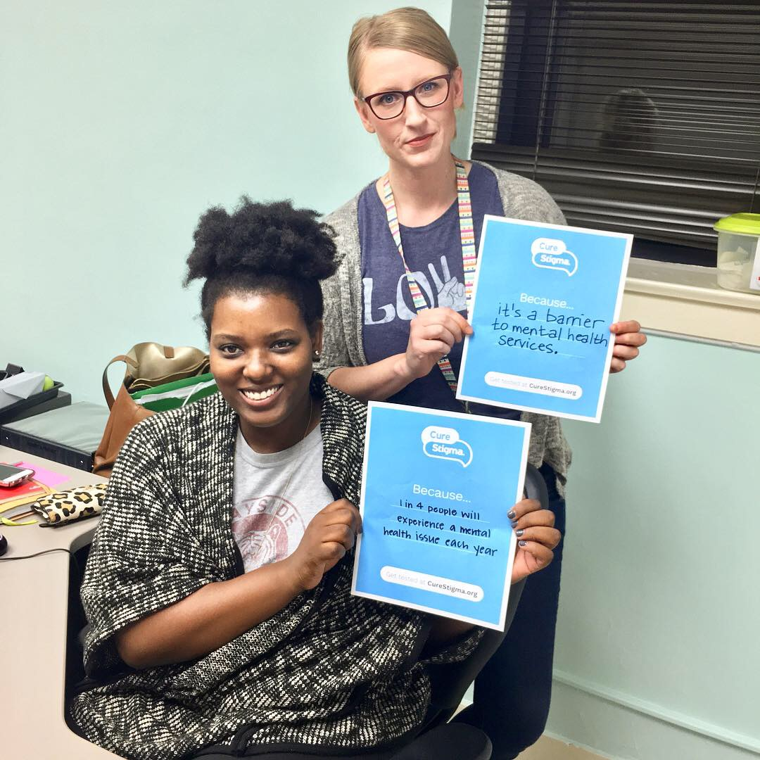 """""""It's a barrier to mental health services."""" Fallon, Impact Clinician """"1 in 4 people will experience a mental health issue each year."""" - Toraneka, Impact Clinician"""