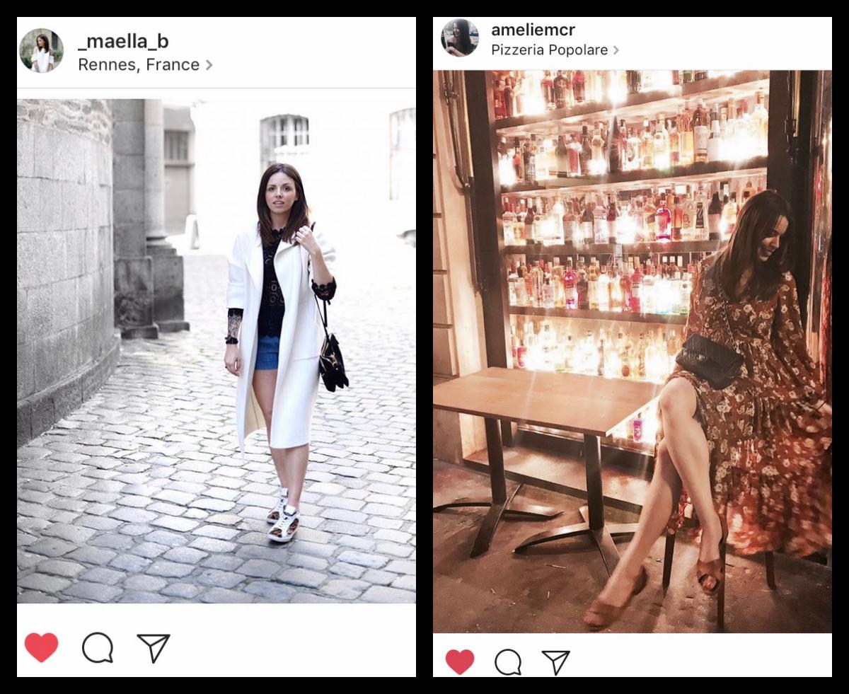 Maella  porte notre   haut noir tout en dentelle   à la perfection ! Plus de photos sur son blog ;)  Amelie  (cliente fidèle) porte la fameuse robe   bohème à fleurs rouille   (que vous aimez tant!)