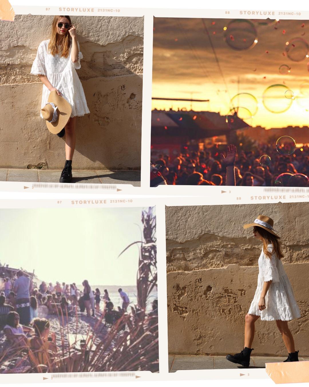 Lollapalooza - Une robe en dentelle, un grand chapeau pour se protéger du soleil et des boots pour la touche rock : le look parfait pour danser, profiter tout en étant hyper stylée non ?SHOP LA ROBE JULIETSHOP LE PANAMA BANDANASHOP LES B.O POSITIVE
