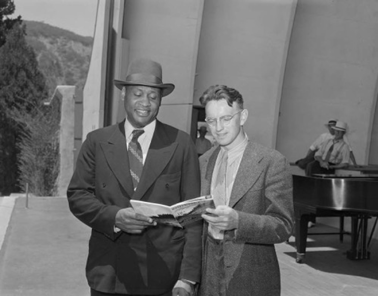 With Earl Robinson
