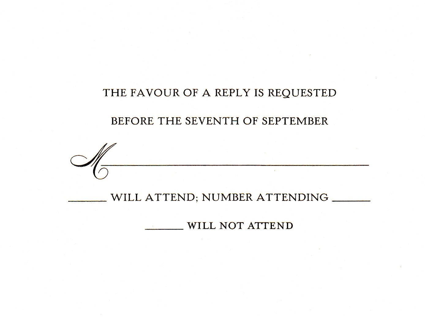 This text is on our order forms, the most clear and concise text for getting a count on guests.  TS 6 & 93  Black  Sample 8