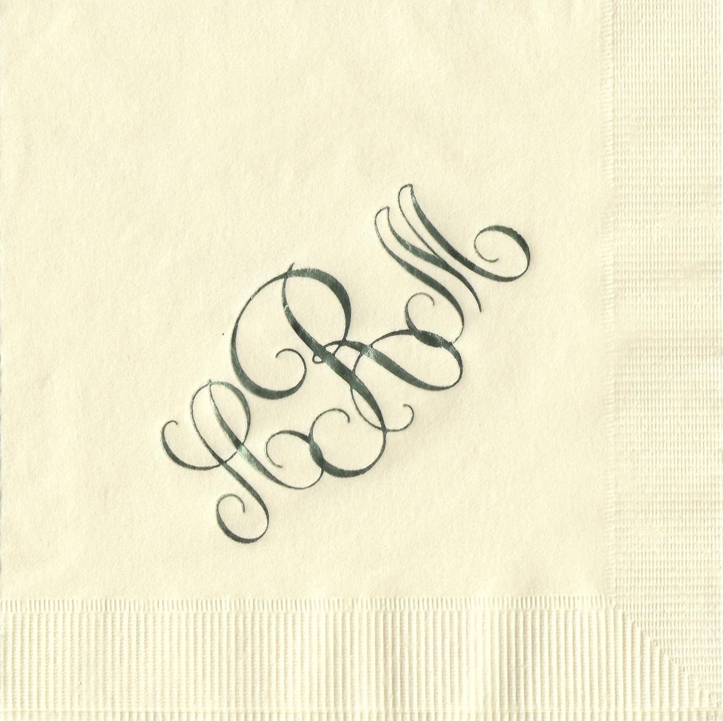 Napkin: Ecru  Imprint: Sage Ink  Beverage  Sample 10
