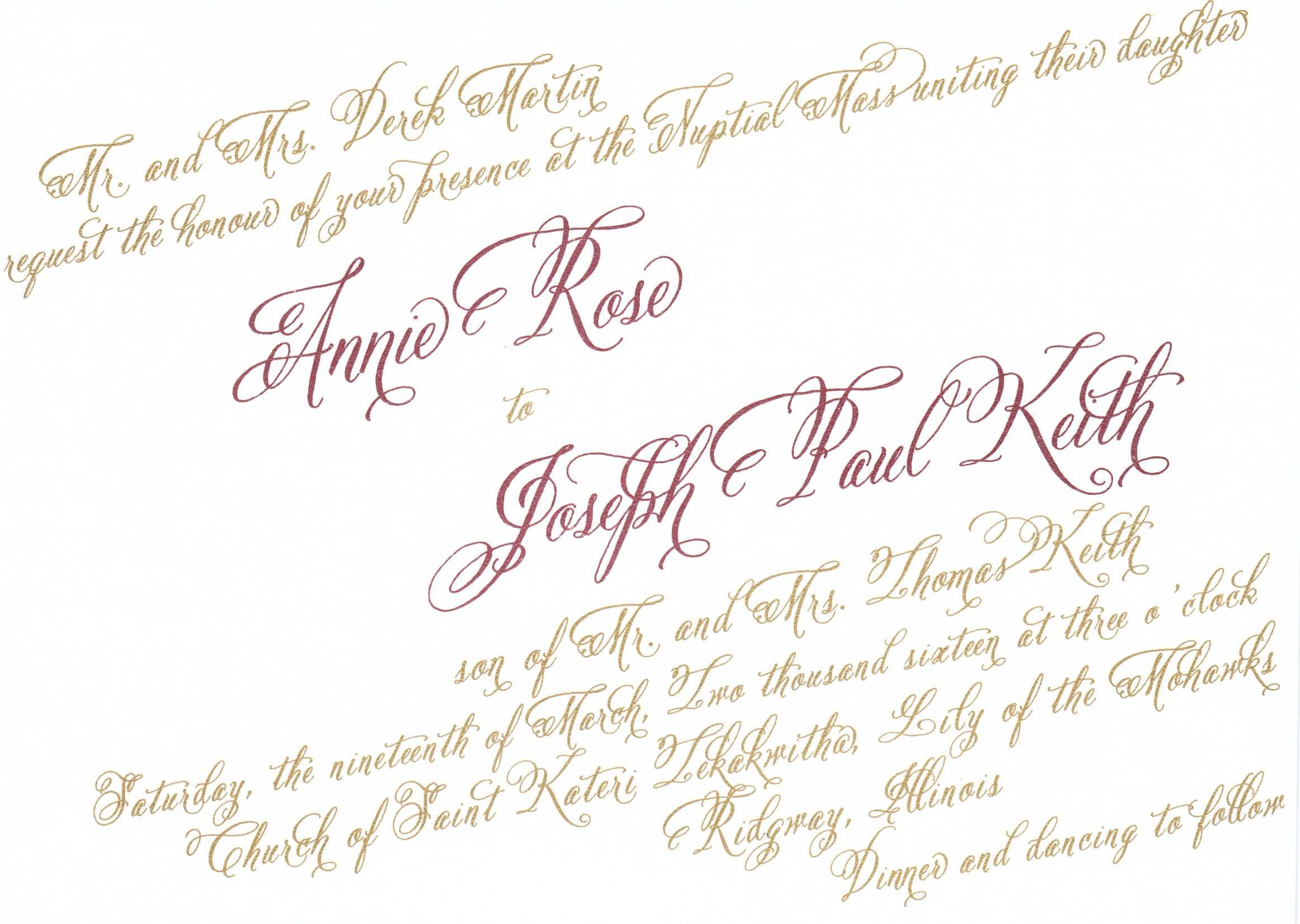 60WREC  TS 60  Gold Ink and Claret Ink  Text at angle & Bleed Charge  Sample 35