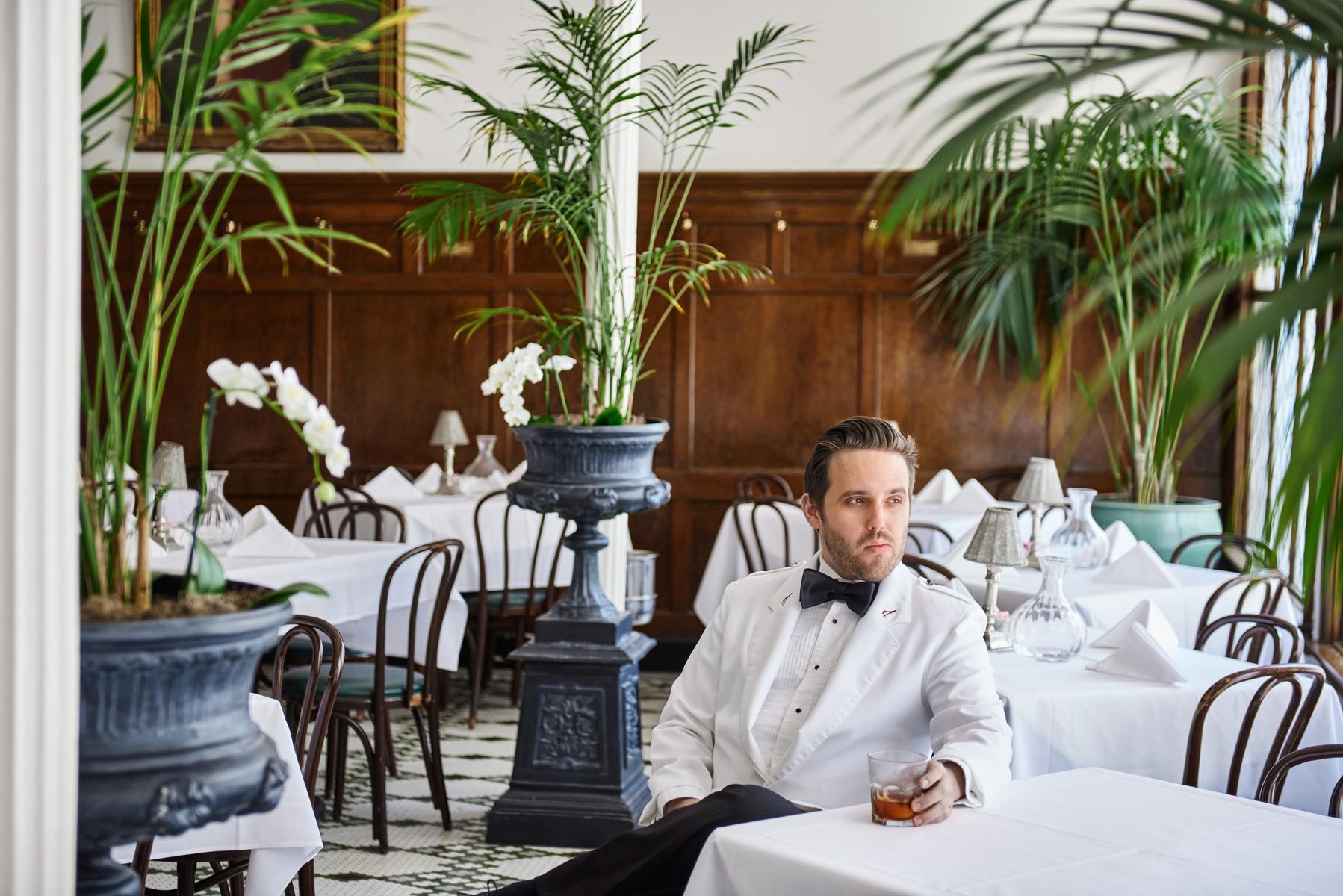 Hadi Ktiri, 29, bartender at French 75 Bar shot by new orleans based photographer Craig Mulcahy. Shoot for Zagat/Google's 30 under 30 in NOLA.