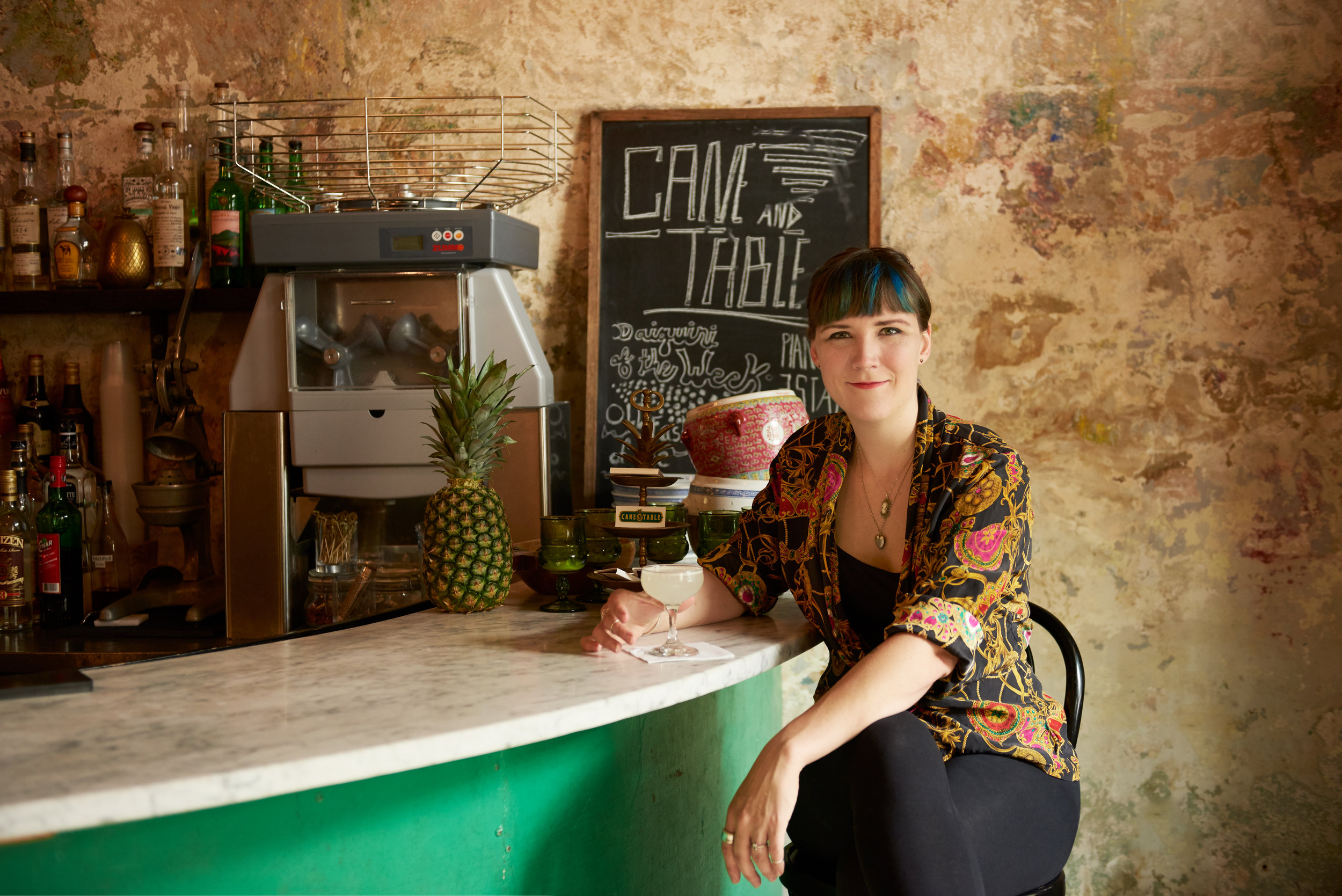 Alexandra Anderson, 28, bartender at Cure and Cane & Table shot by new orleans based photographer Craig Mulcahy. Shoot for Zagat/Google's 30 under 30 in NOLA.
