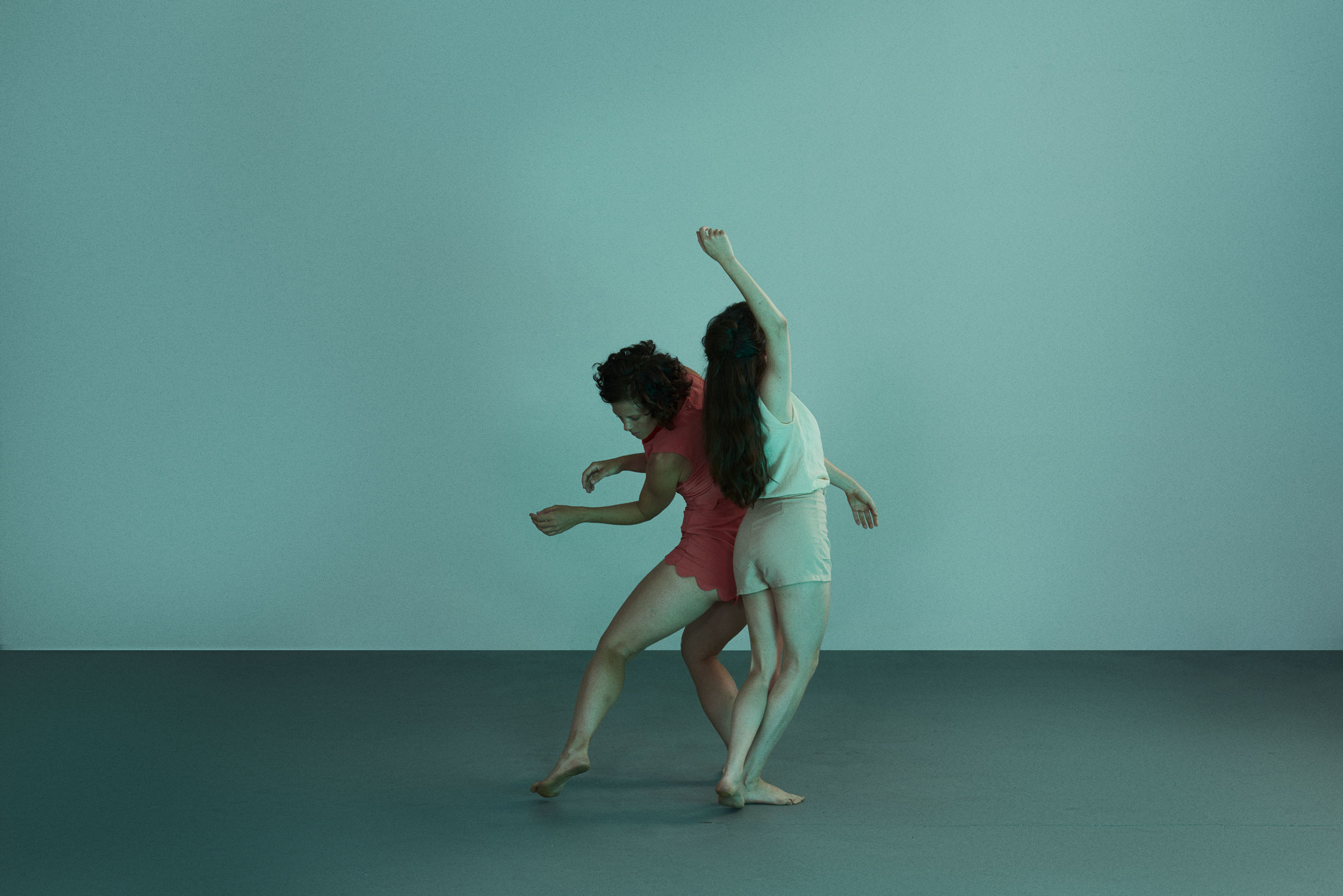 Image from personal project of photographer Craig Mulcahy titled 'The Mare'. The images mix mood, atmosphere, dance and the supernatural. #photography #neworleans #studio #teal #colour #fineart #dance #movement #entity #malicious