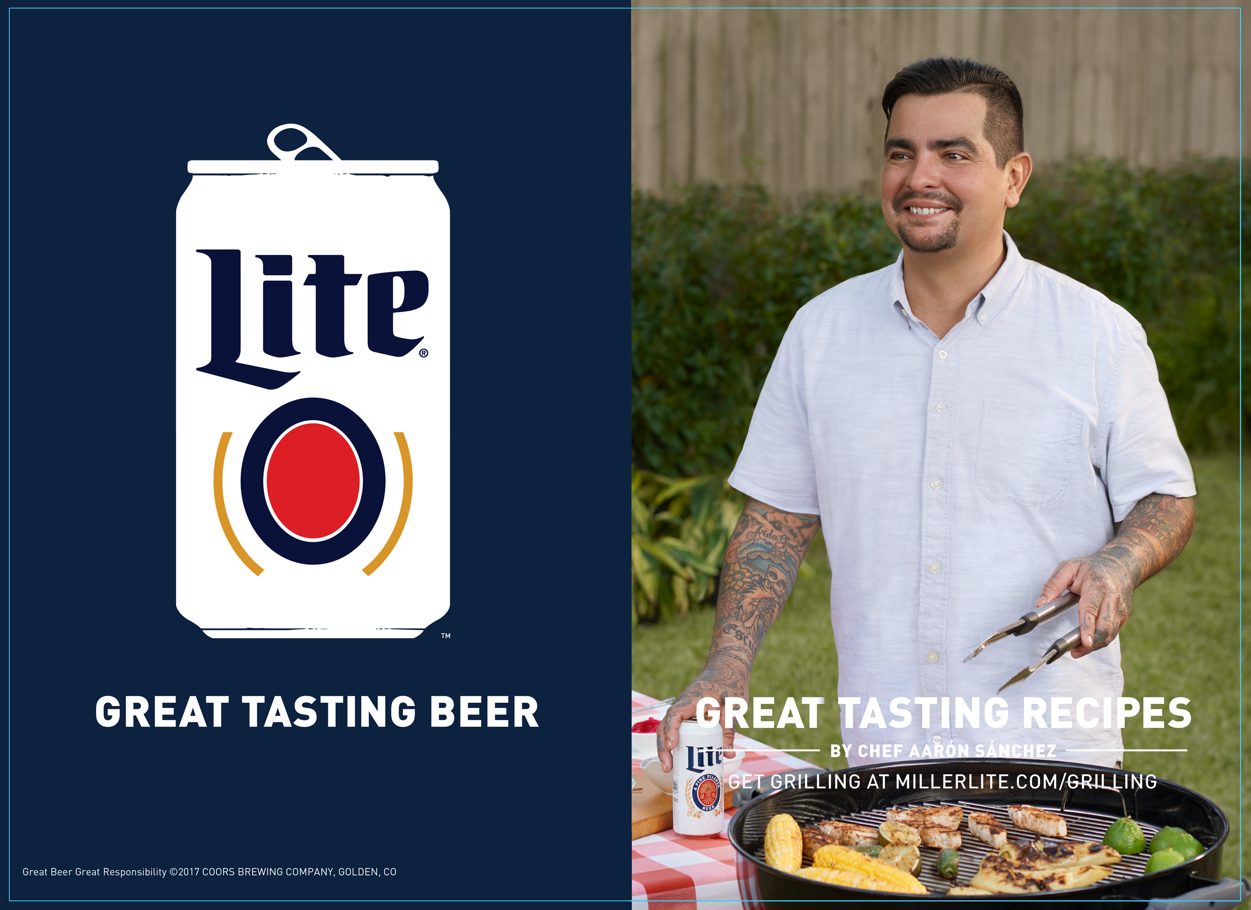 MillerLite advertisement photographed by New Orleans based photographer Craig Mulcahy. The commercial features celebrity chef Aaron Sanchez.