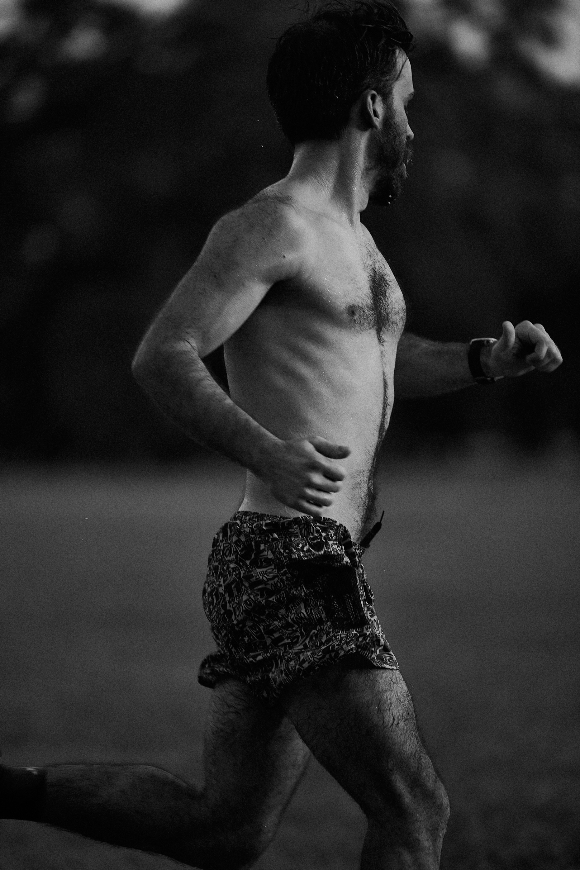 Portrait of Kevin McNeill of the Power Miler Track Club, New Orleans, LA.