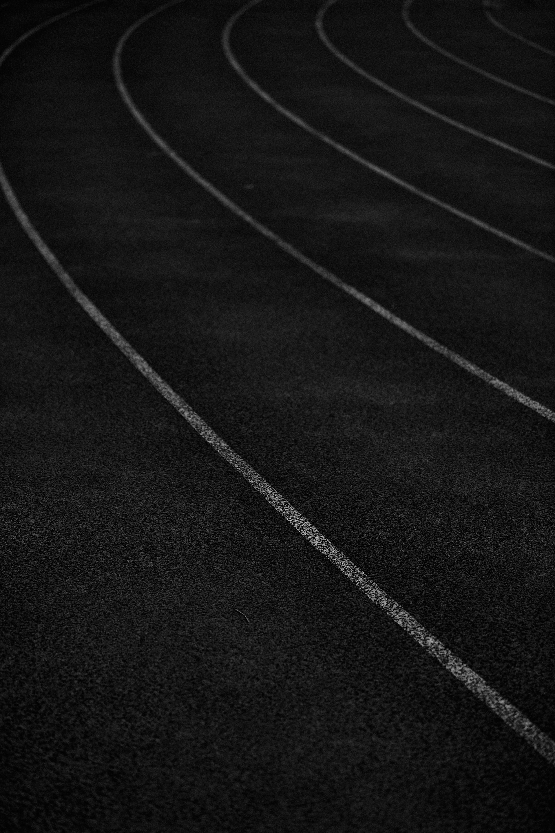 The track at City Park during the Power Milers Track Club marathon training, New Orleans, LA.