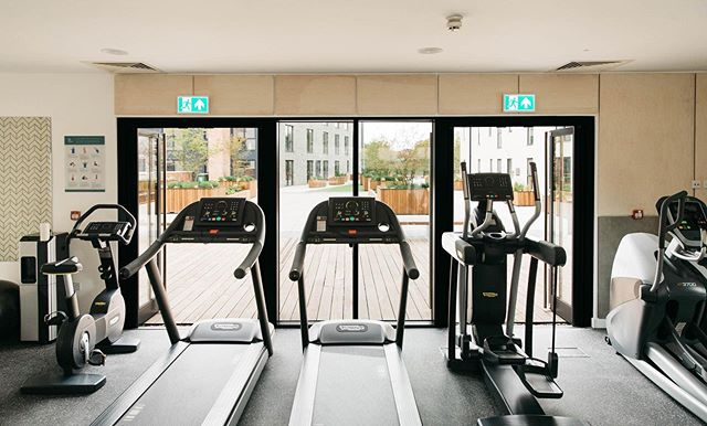 There's something about working out with a view that makes going to the gym that little bit easier.⁠⠀ ⁠⠀ The Residents' Gym is just one of the many amenities at Spring Wharf. Work out at a time that suits your schedule, and just a 2-minute walk from your apartment. ⁠⠀ ⁠⠀ #MoreLiving⁠⠀ ⁠⠀ Image by @_tobymitchell  for Spring Wharf⁠⠀