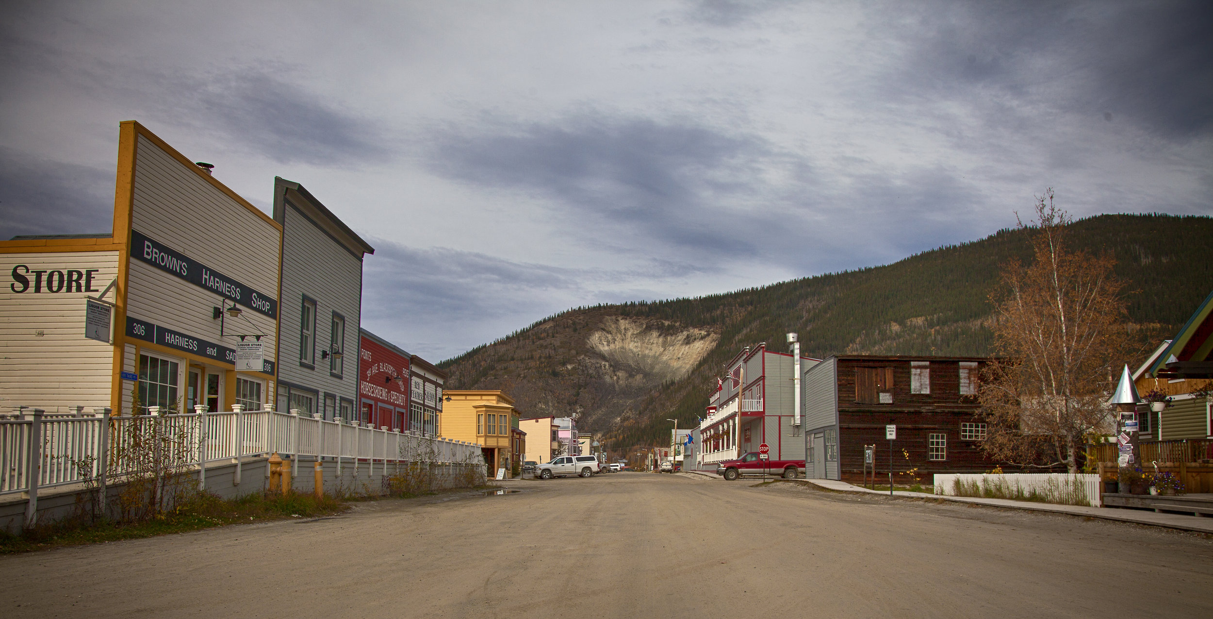 Dawson City Street View - Across the Blue Planet