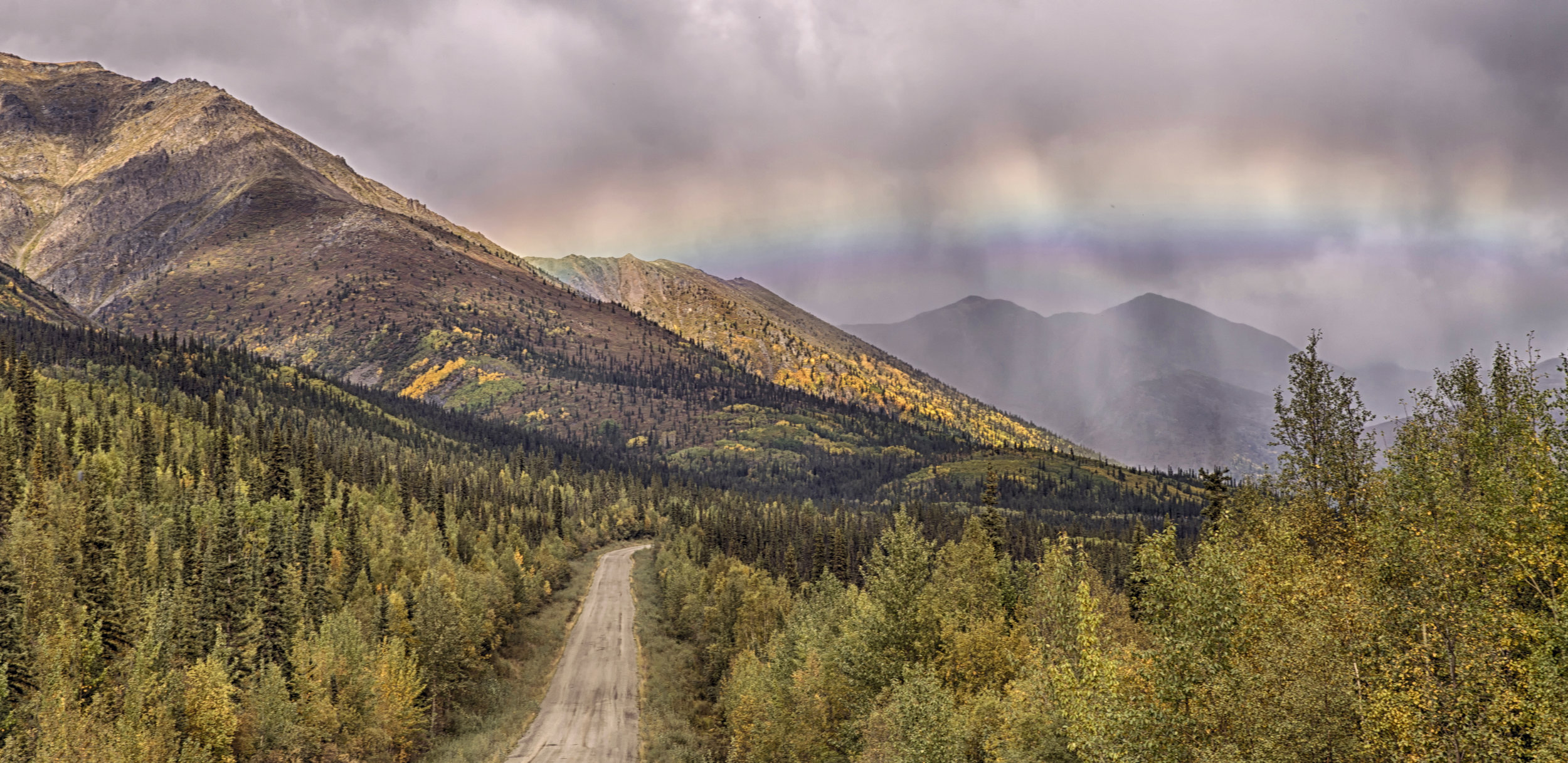 Rainbow over Dempster Highway - Across the Blue Planet