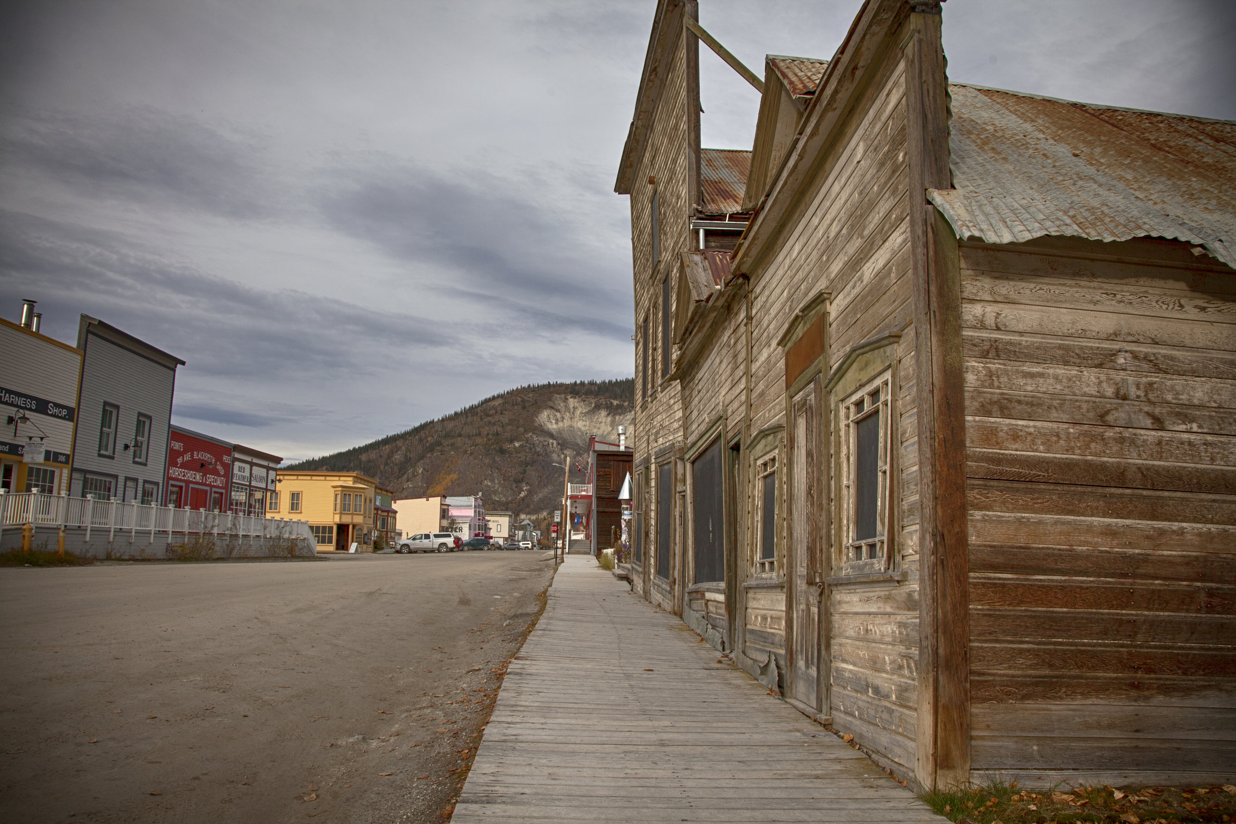 Rustic Buildings of Dawson City - Across the Blue Planet