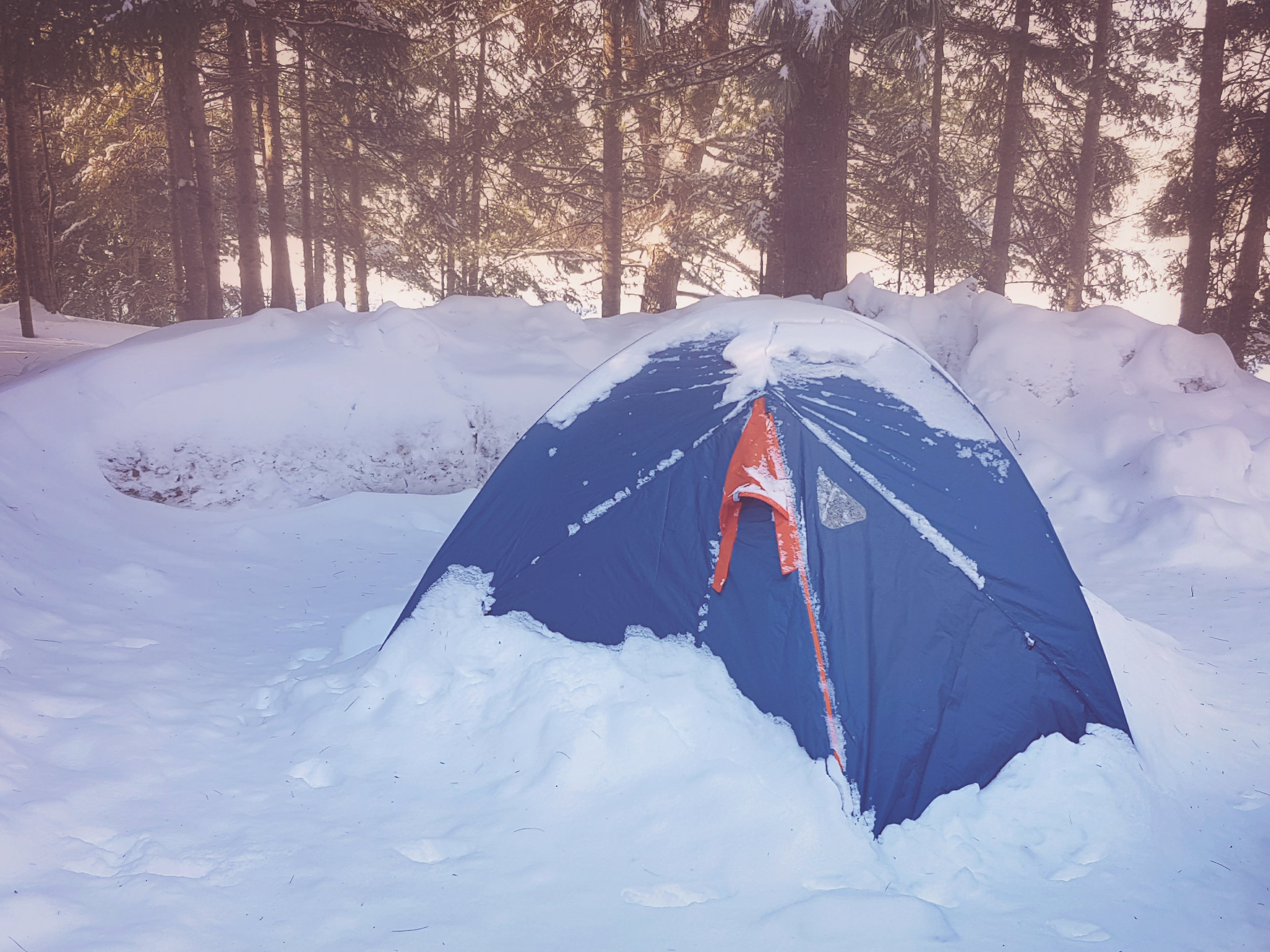 winter camping - across the blue planet