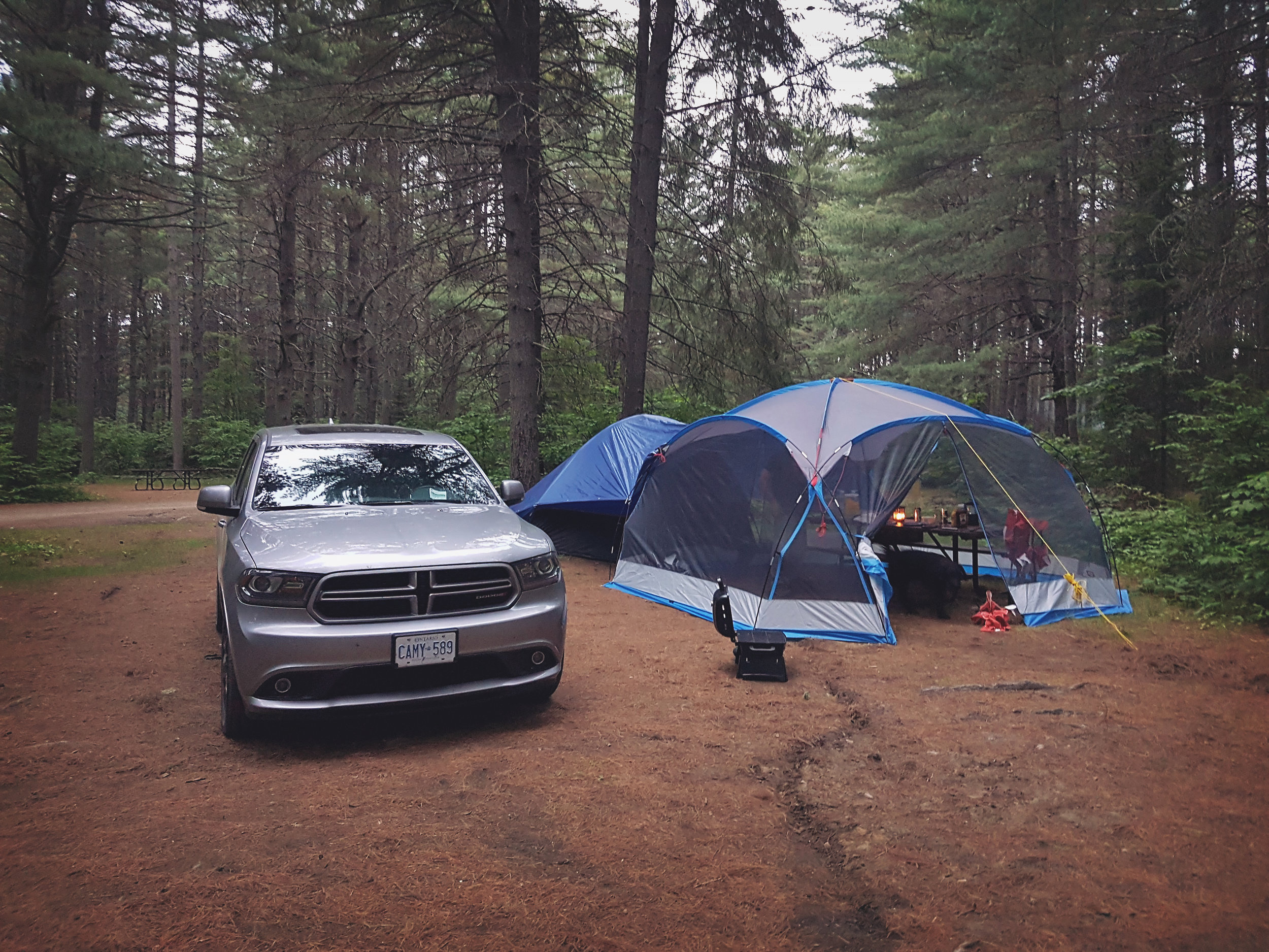 camping in algonquin - across the blue planet