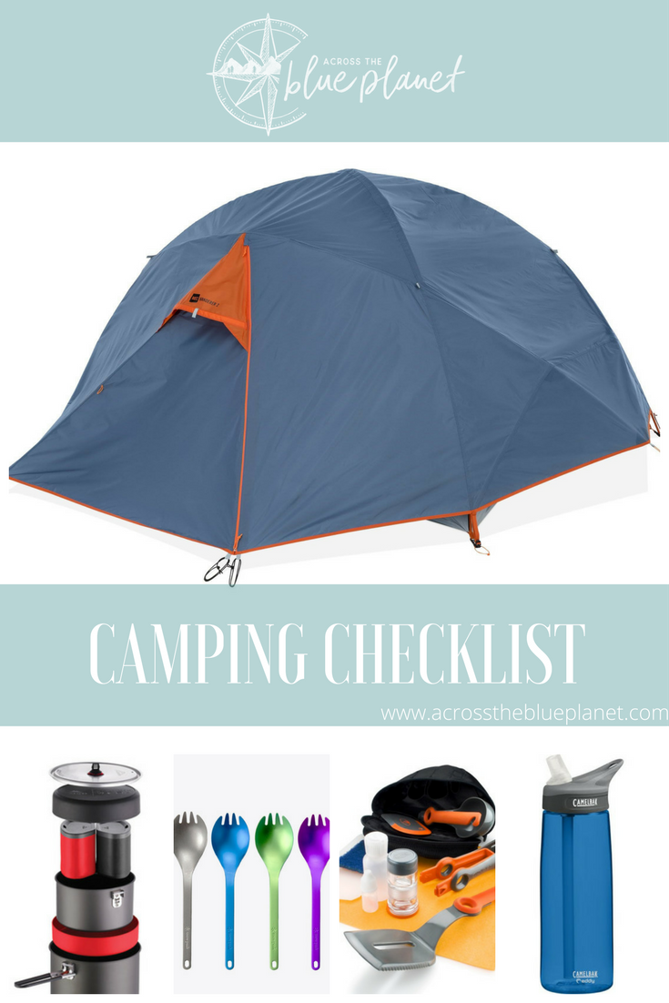 Across the Blue Planet - Camping Checklist
