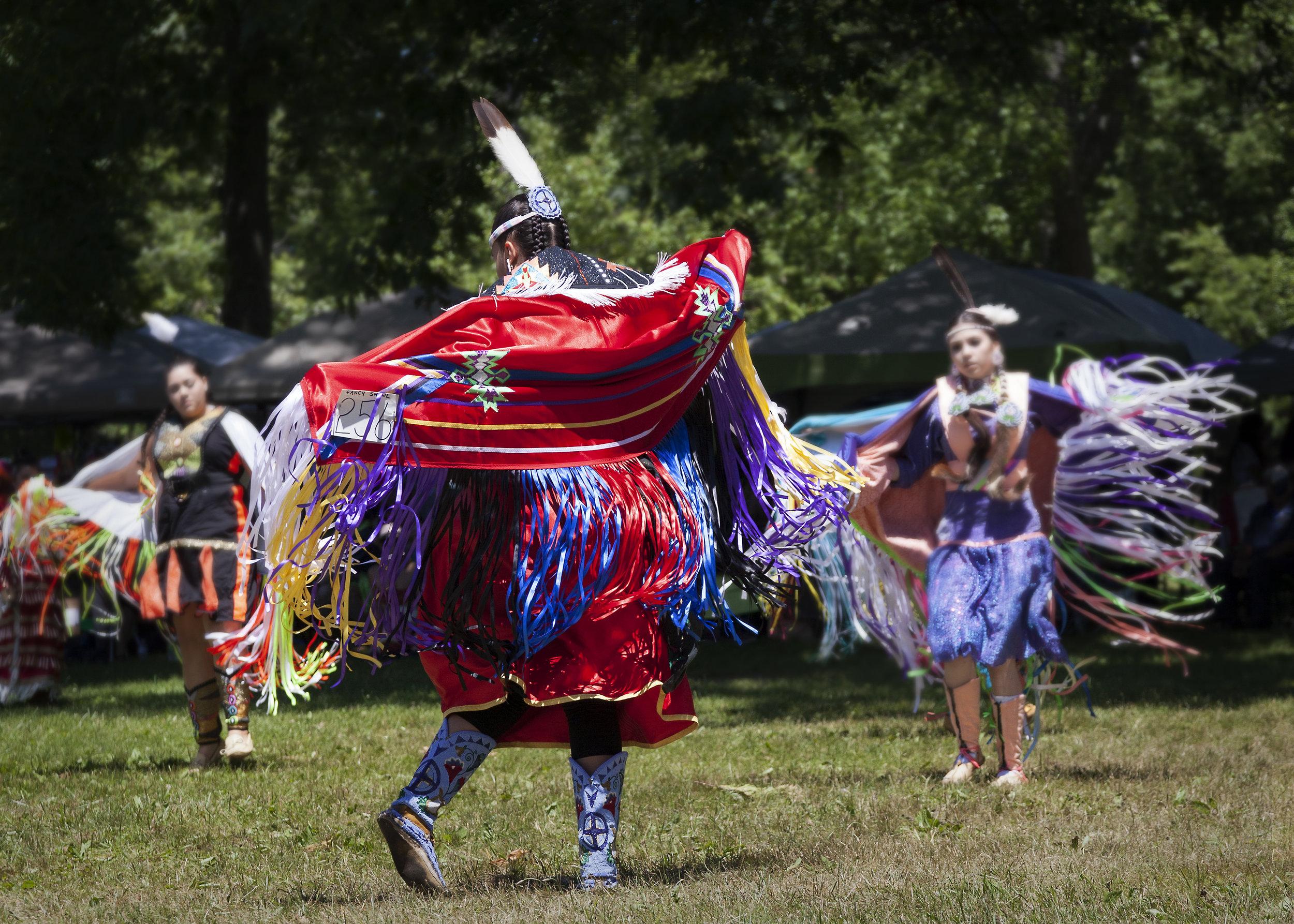 Fancy Shawl Dancers Kettle Point Powwow - Across the Blue Planet