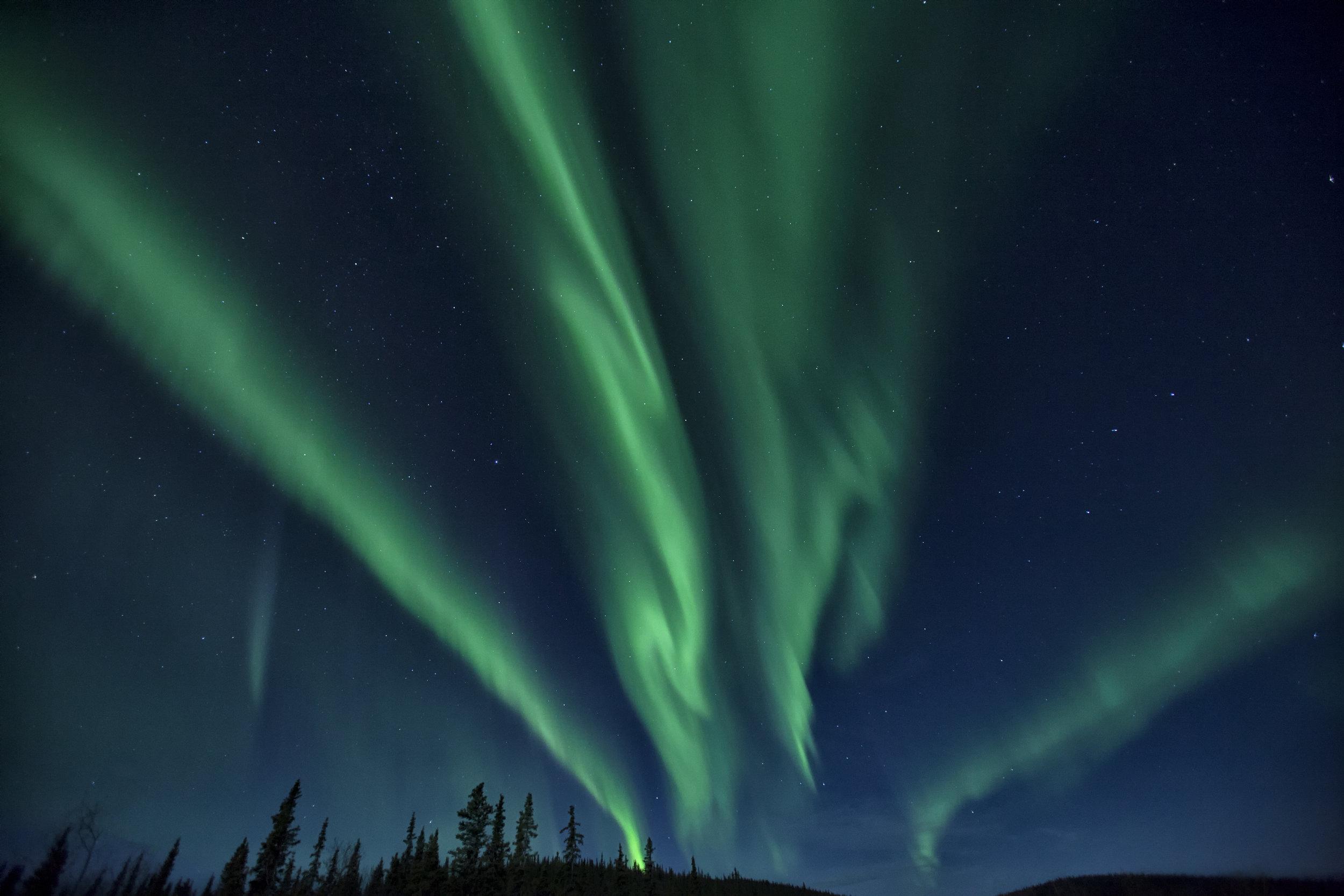 Yukon Northern Lights - Across the Blue Planet