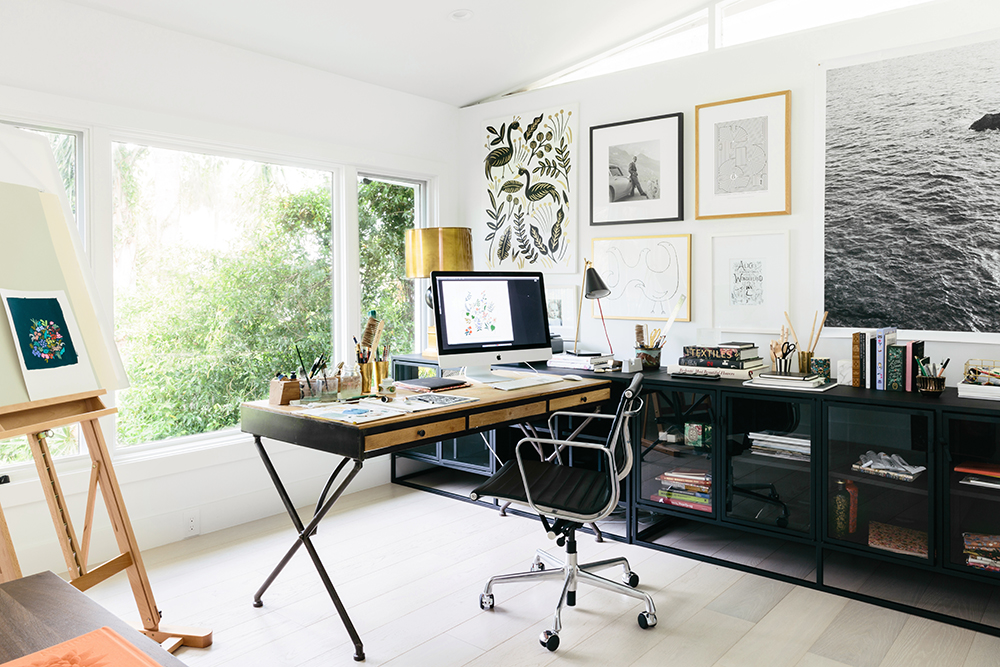 ANNA BOND OF RIFLE PAPER CO. OFFICE