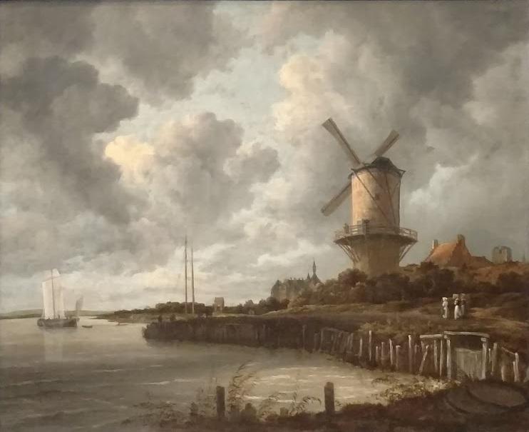 The Windmill by Jacob Isaacksz van Ruisdael