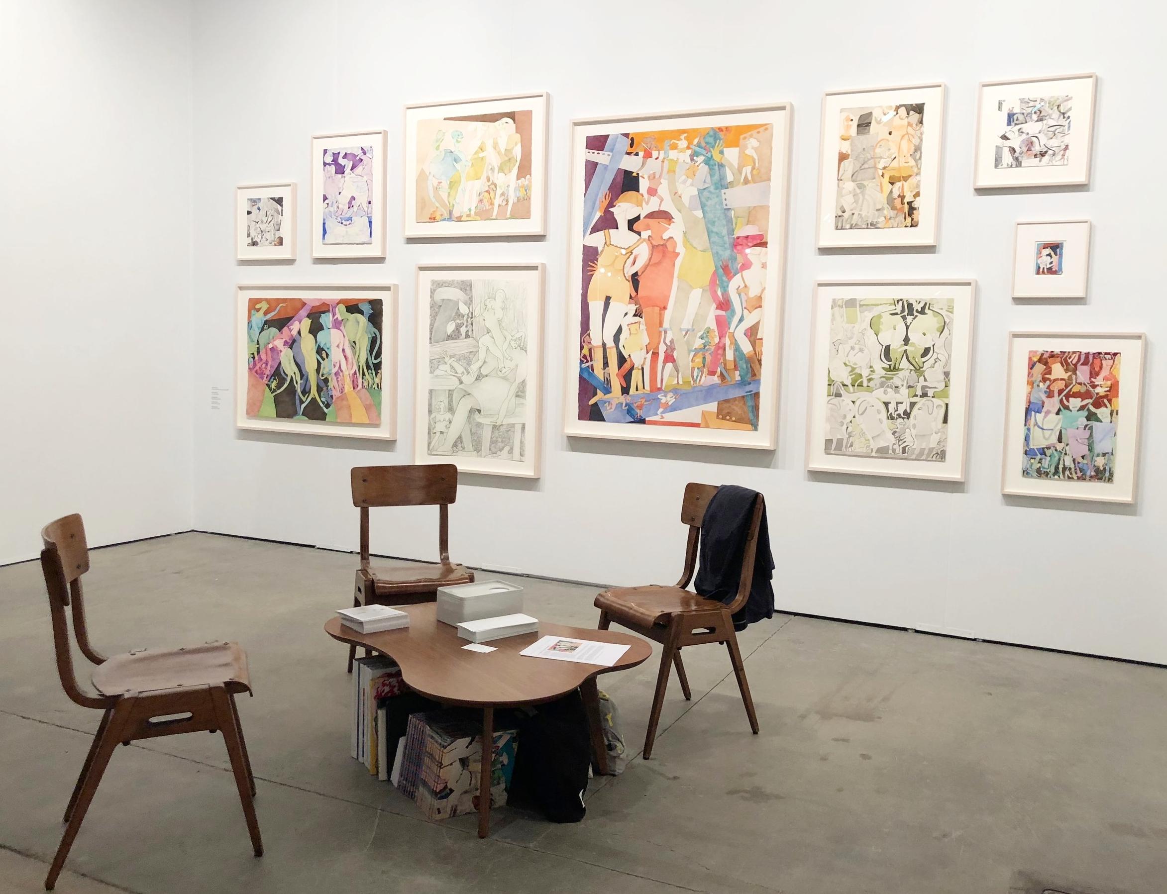 Gladys Nilsson at Garth Greenan Gallery's booth at EXPO Chicago
