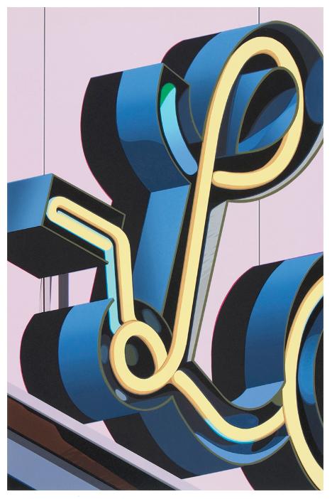 Robert Cottingham,  An American Alphabet: L , Lithograph, 2005