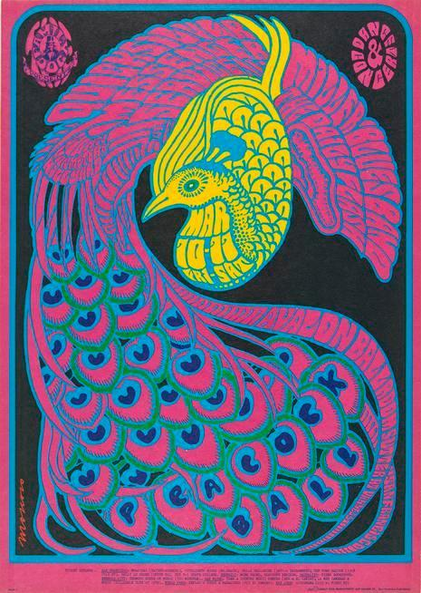 Victor Moscoso, Lithographic poster, 1967