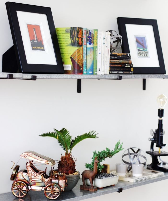 I love this shot of the client's Harry Potter books (which are in German!) as well as some great antiques and this amazing light made from an old microscope by a science teacher here in Baltimore.