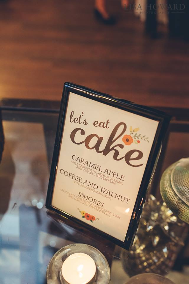cake flavour sign