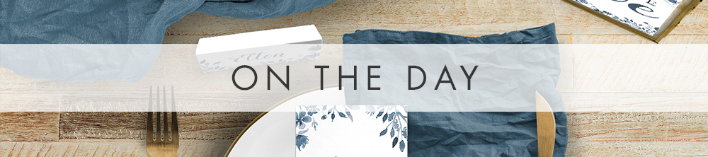 Dusky Blue On The Day - blue watercolour floral wedding stationery suite uk - Hawthorne and Ivory