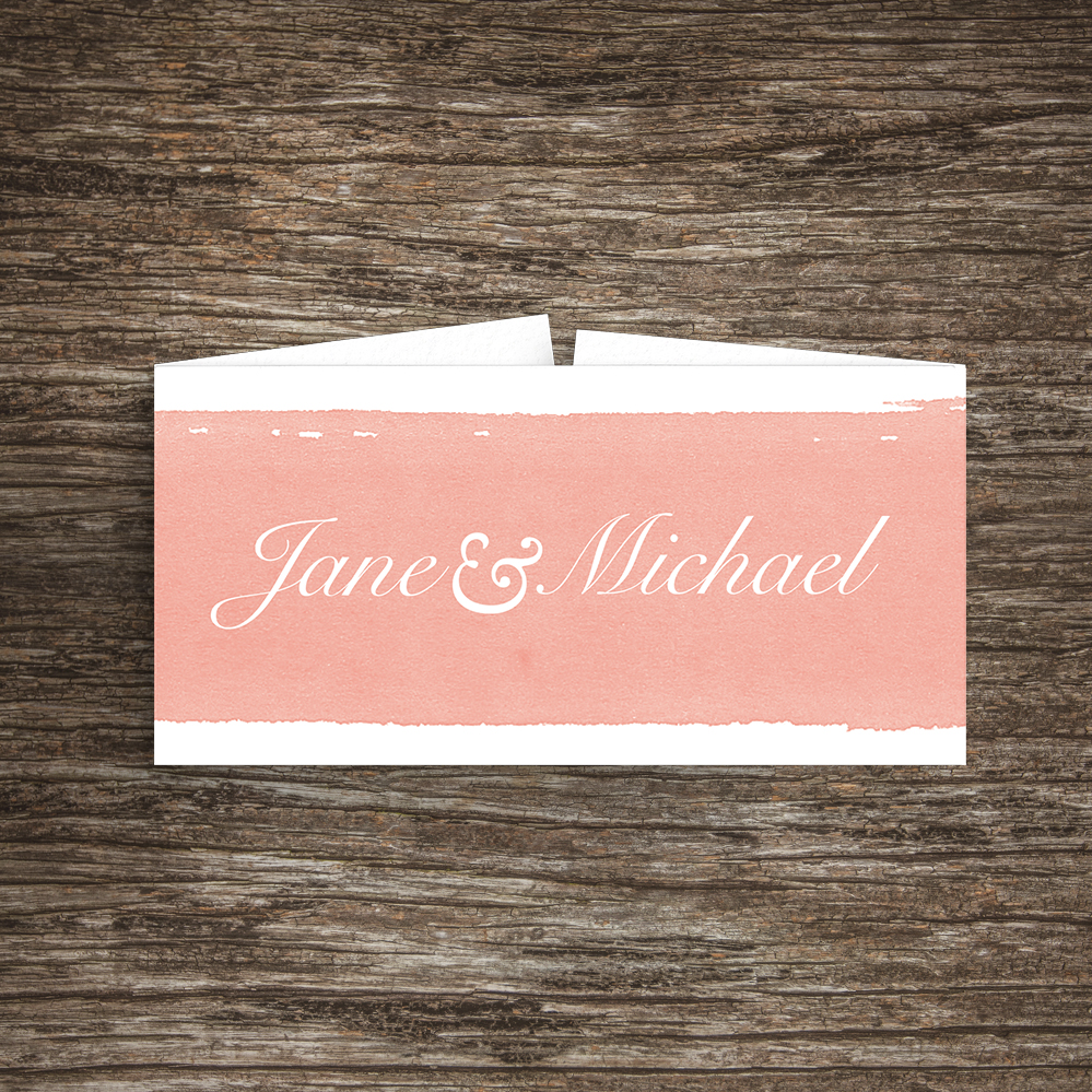Rose Bush Belly Band - peach pink roses watercolour wedding wedding stationery suite uk - Hawthorne and Ivory