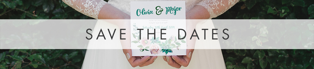 Succulent Rose Save The Dates - teal turquoise hydrangea eucalyptus floral wedding stationery suite uk - Hawthorne and Ivory